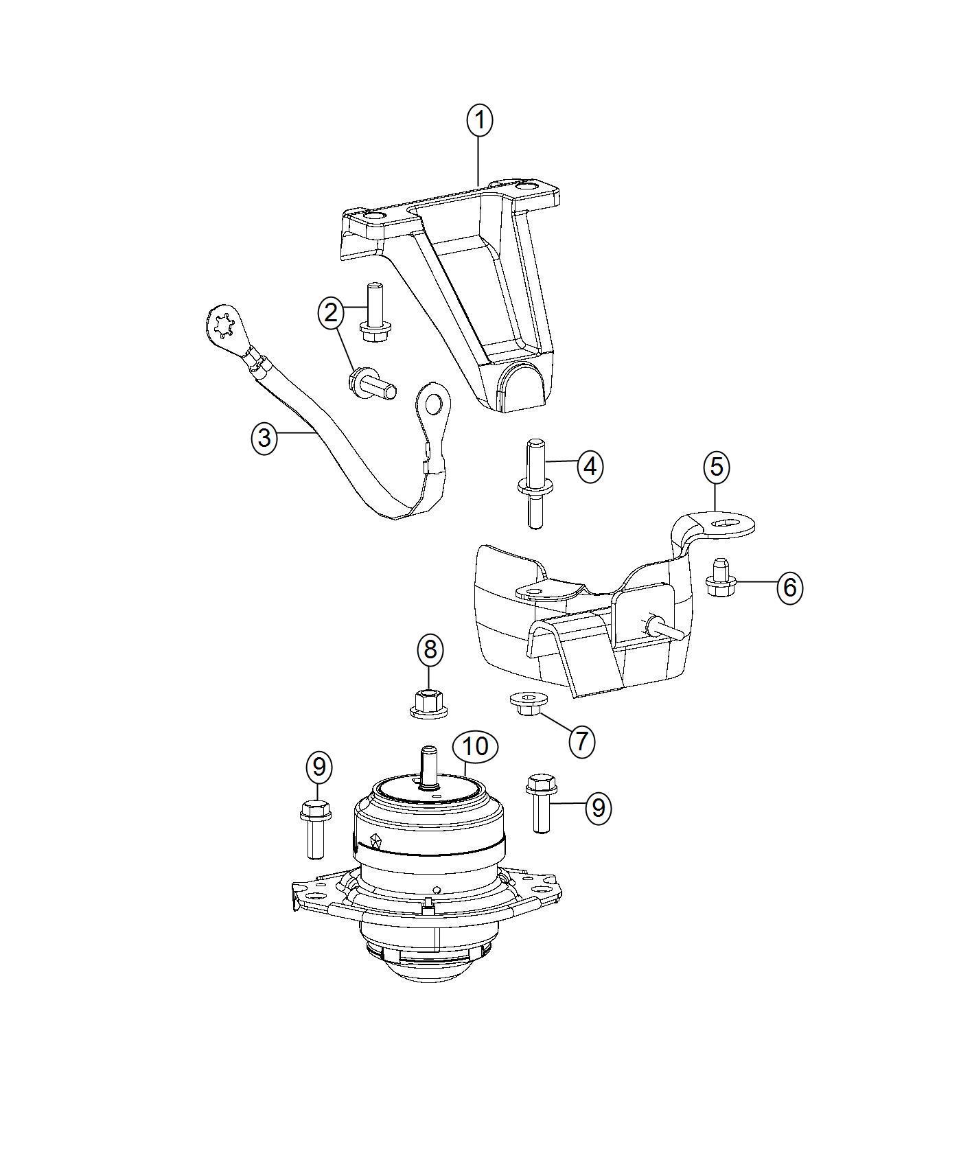 Dodge Viper Heat Shield Engine Mount Right Side