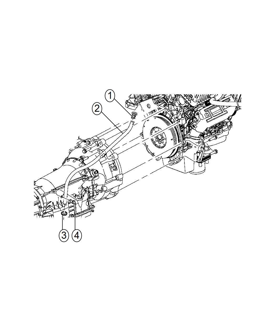 Dodge Charger Tube Transmission Oil Filler