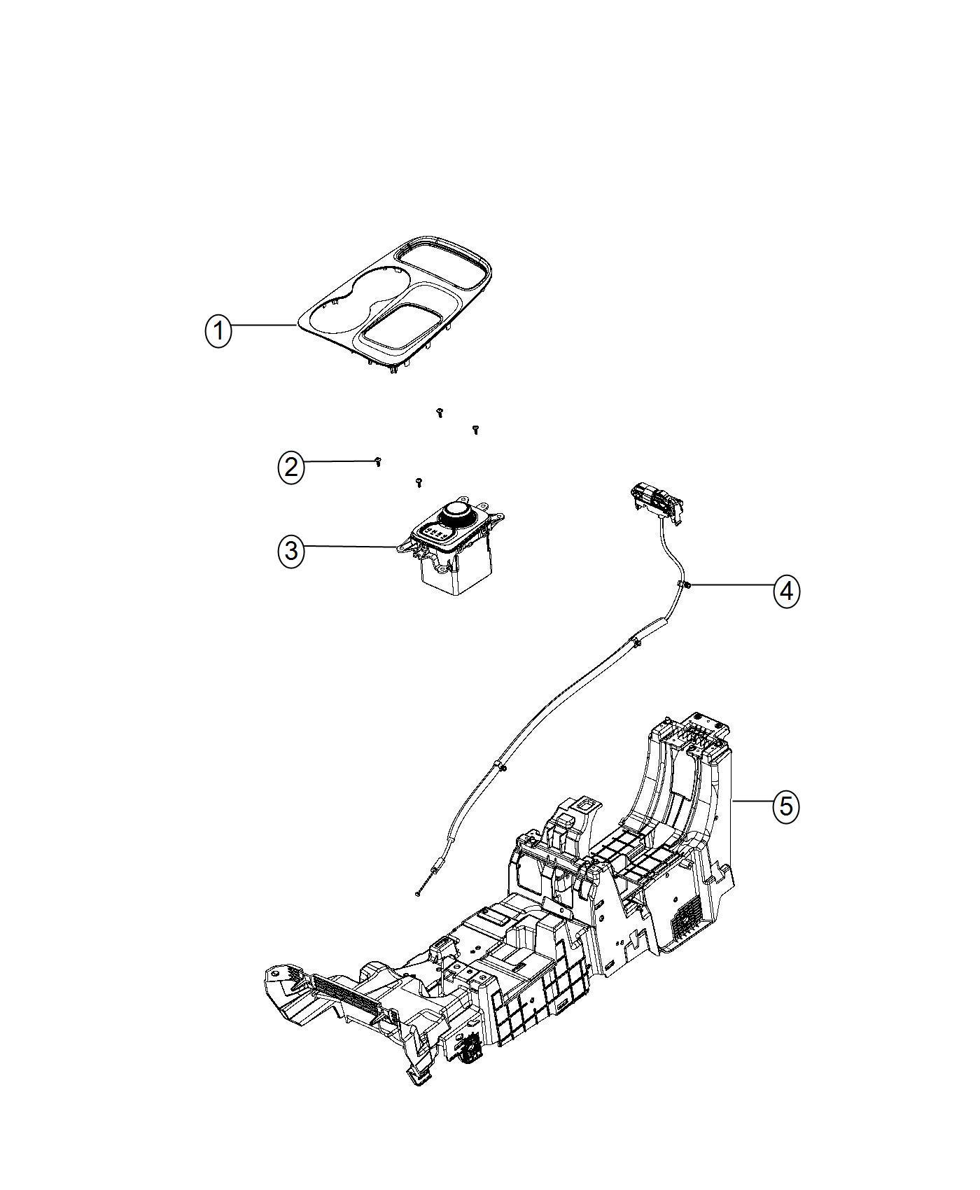 Dodge Durango Shifter Transmission Gearshift Controls
