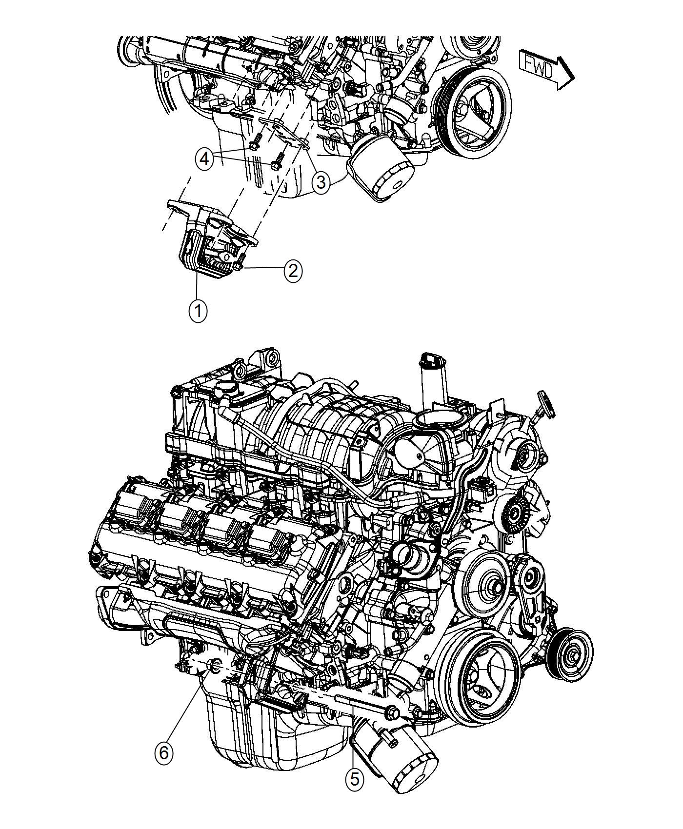 Ram Insulator Engine Mount Left Side Right