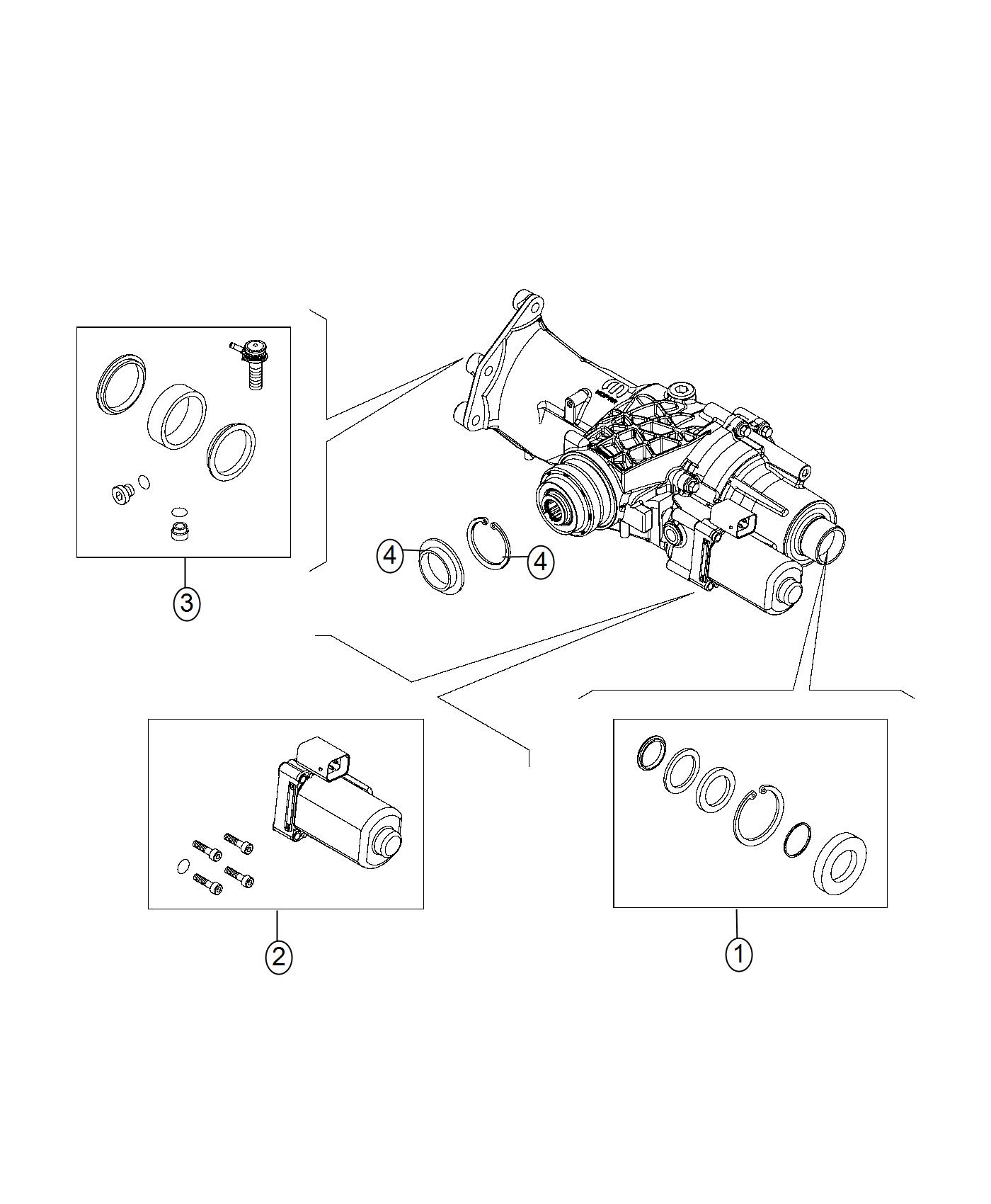 Jeep Renegade Seal Kit Power Transfer Unit Export