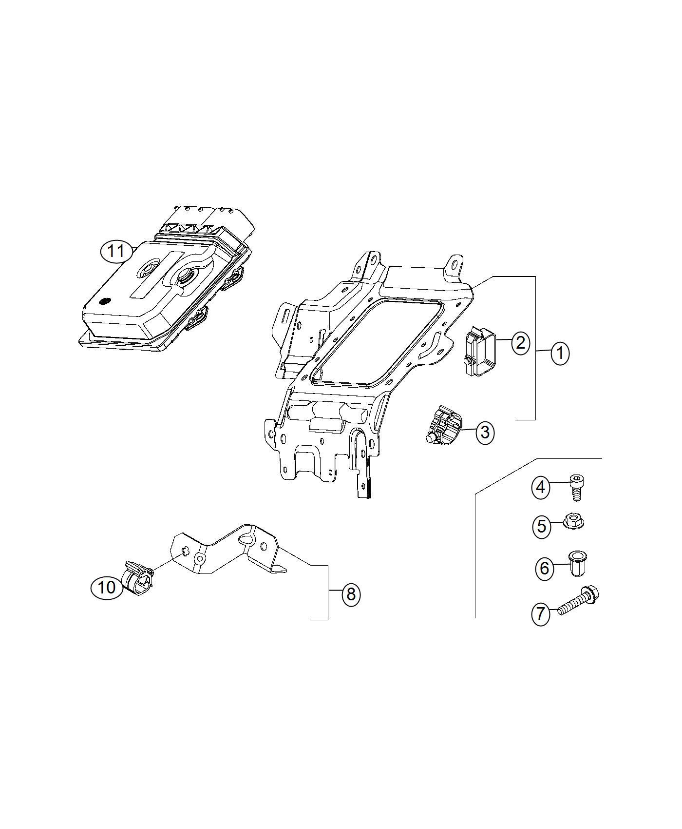 Fiat 500x Clip Wiring Export Us Canada Mexico