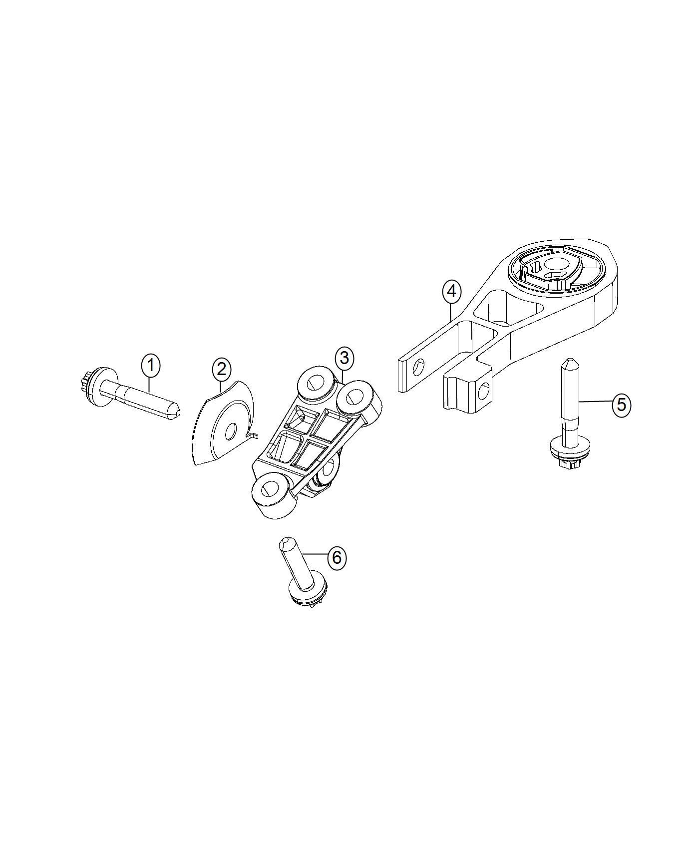 Jeep Renegade Engine Mount Isolator Rear Torque Strut Export Up To 5 6