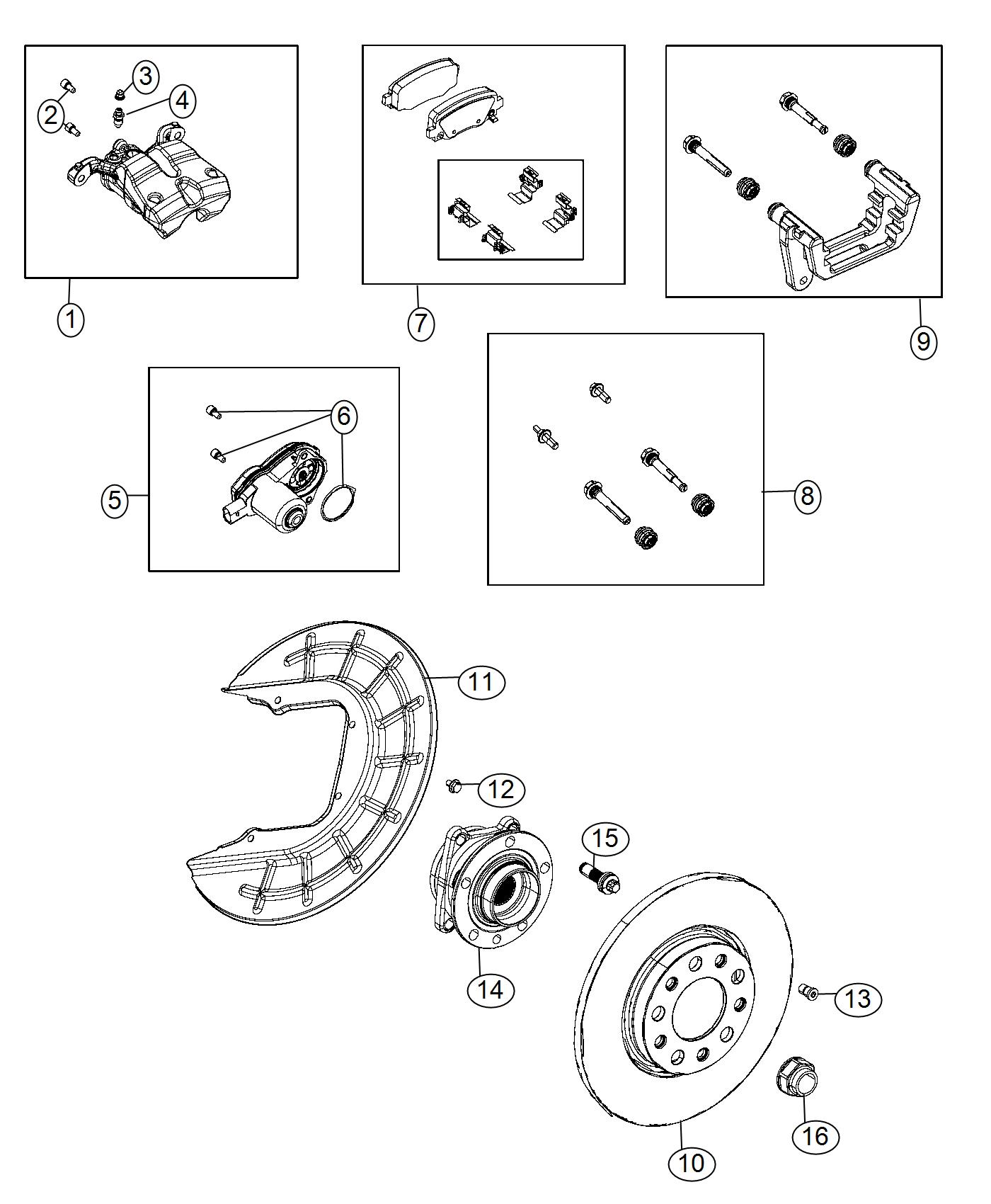Fiat 500x Pad Kit Rear Disc Brake Magneti Marelli