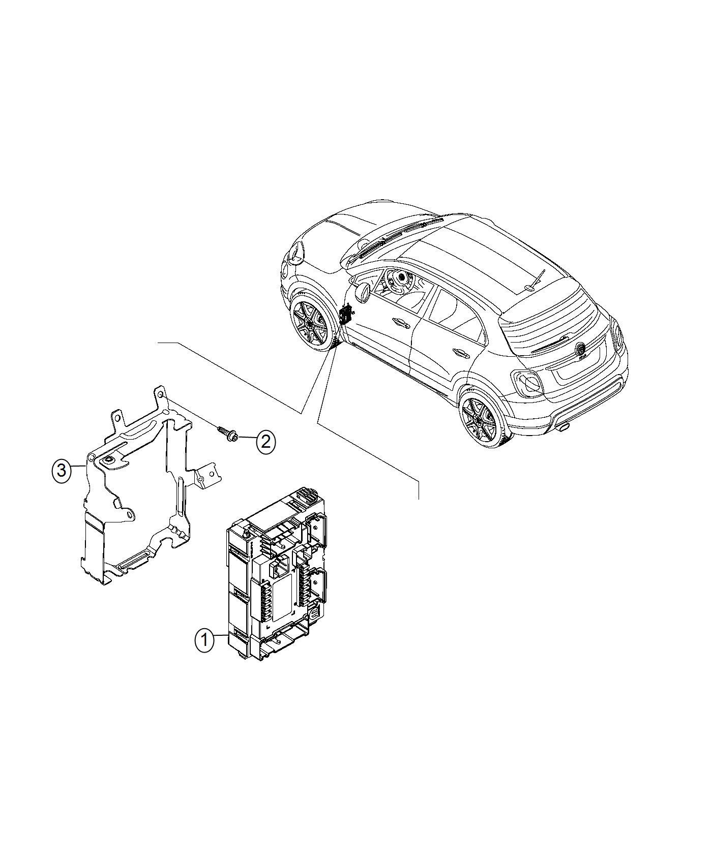Fiat 500x Module Body Controller Export Remote