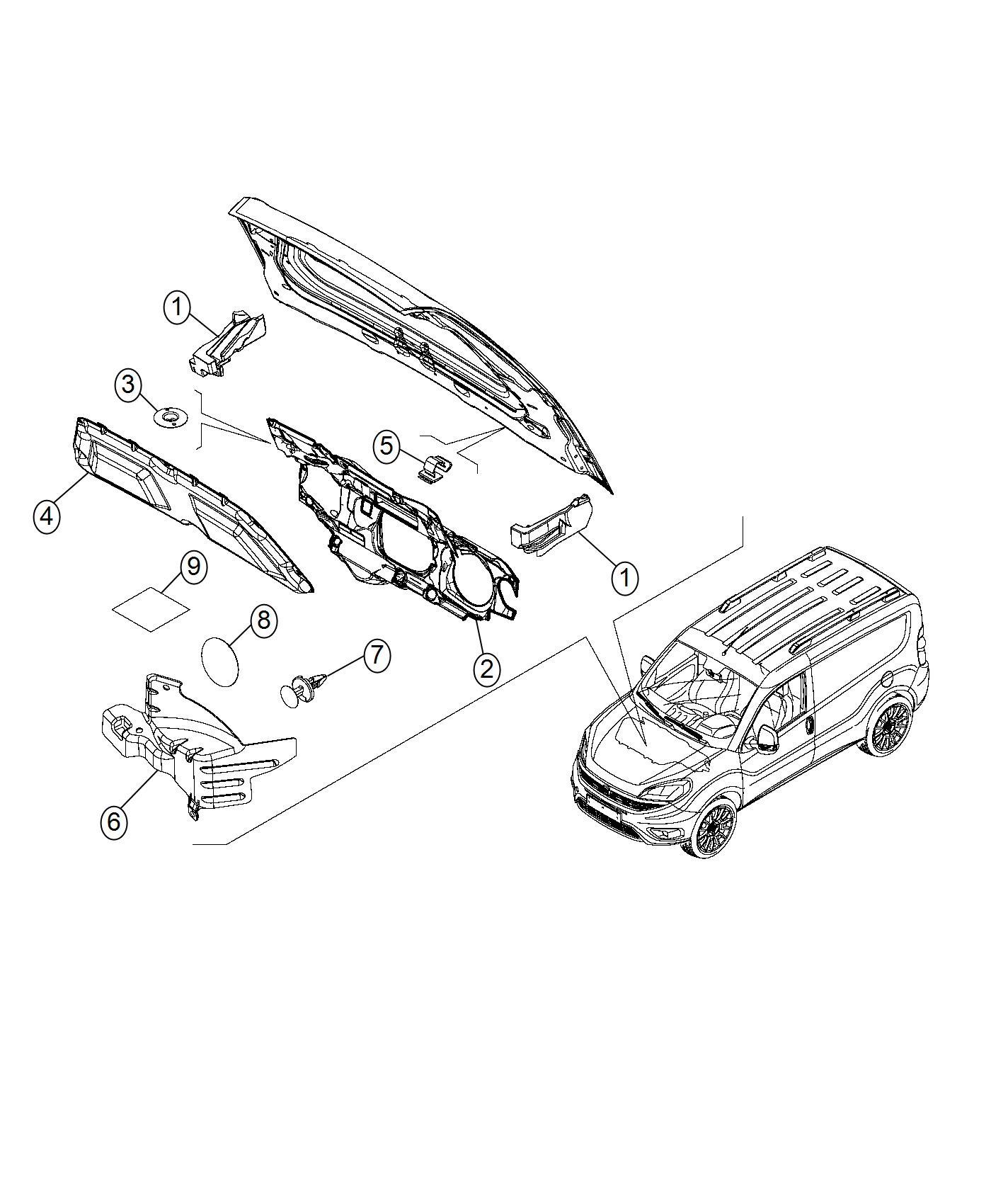 Ram Promaster City Wagon Heat Shield Dash Exhaust