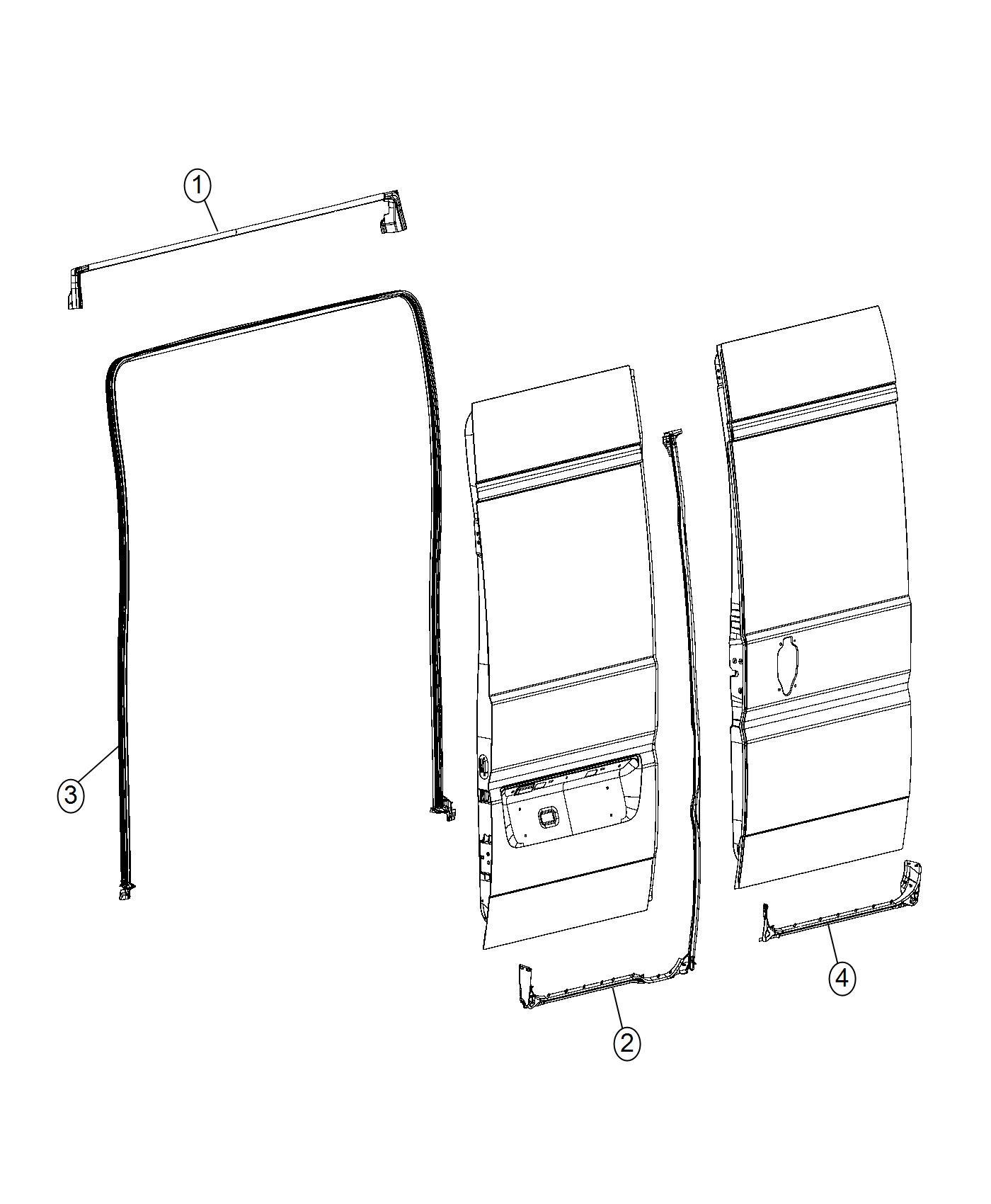 Dodge Ram Weatherstrip Cargo Door