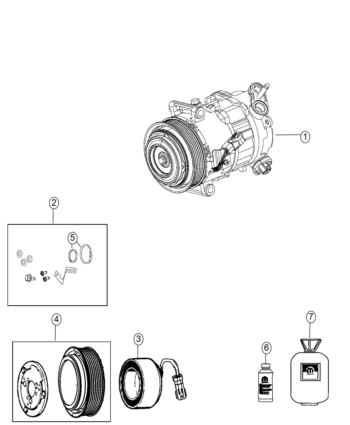 Jeep Cherokee Pulley Hub Kit A C Compressor Air