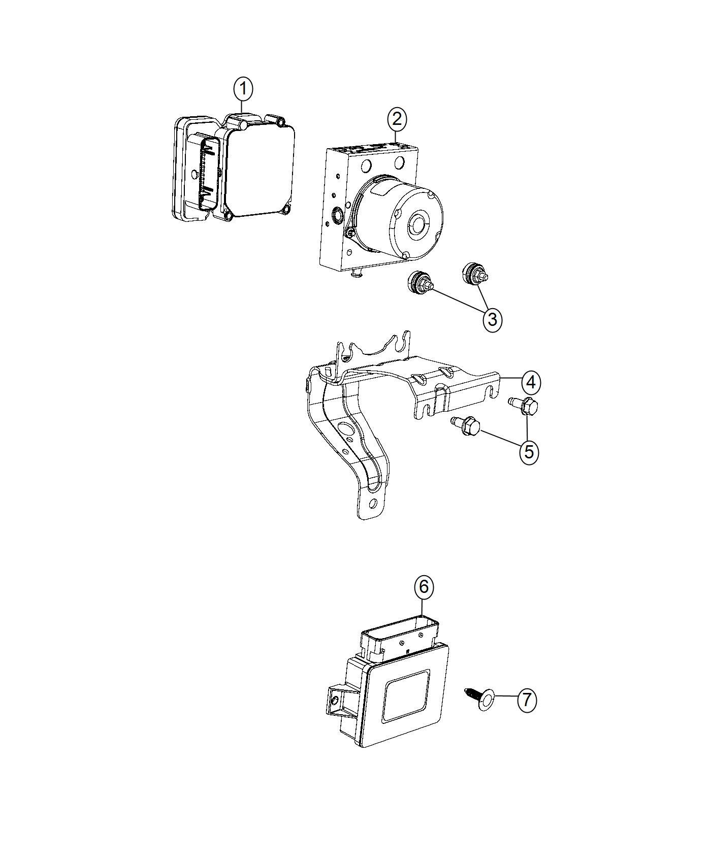 Chrysler 200 Control Unit Anti Lock Brake Adaptive