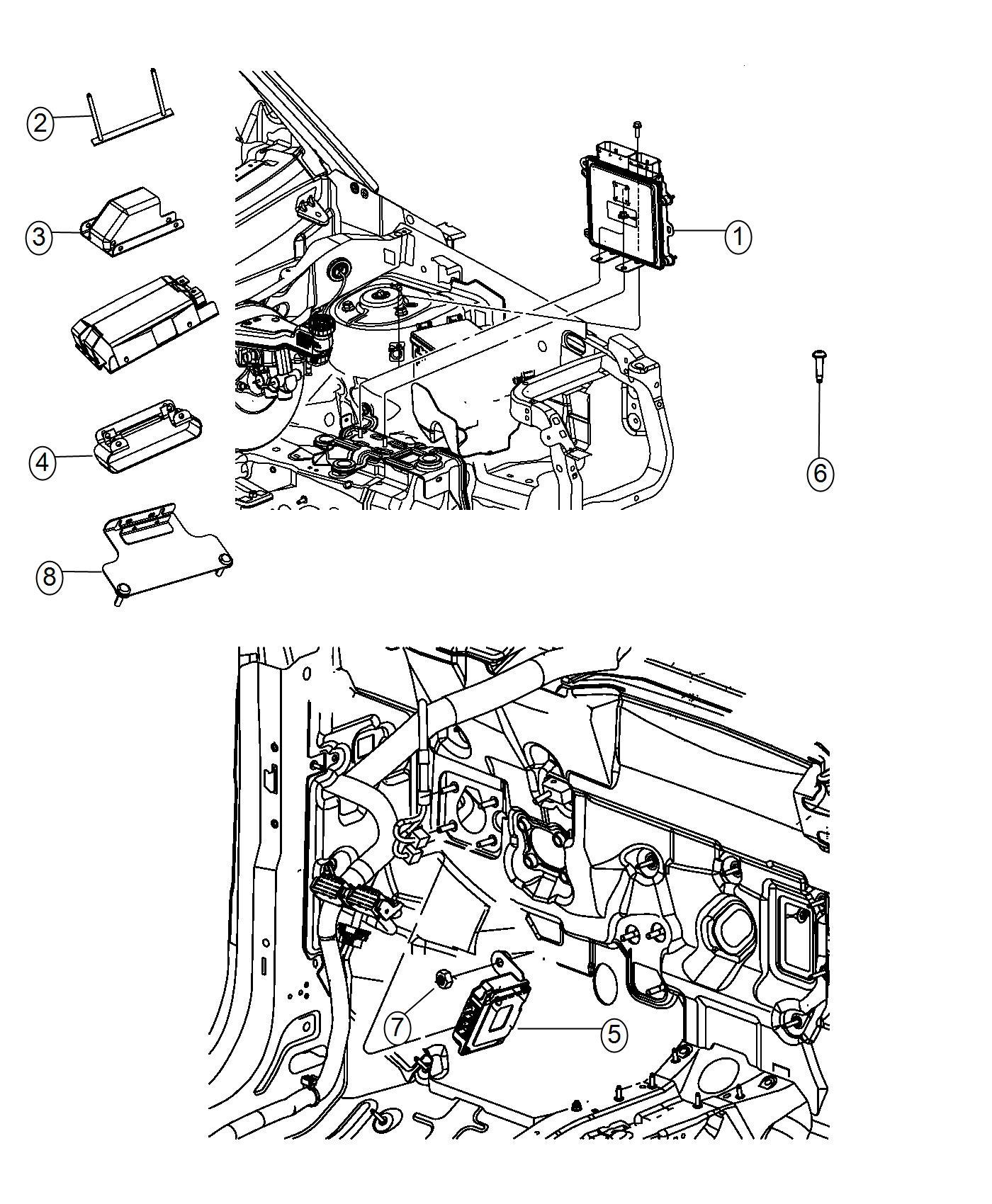 Jeep Compass Bracket Transmission Control Module