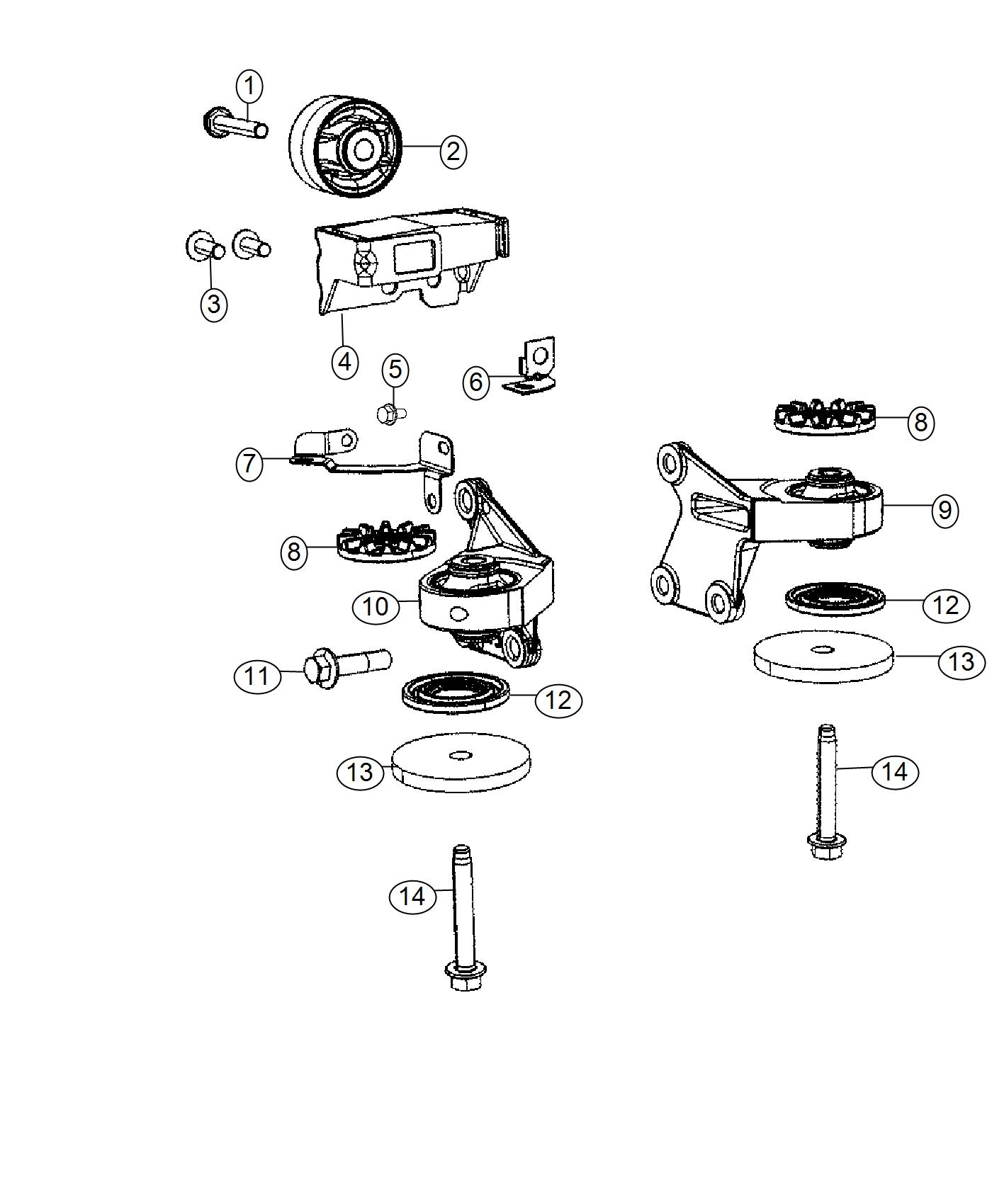 Jeep Compass Bolt Hex Flange Head M6x1 00x12 00