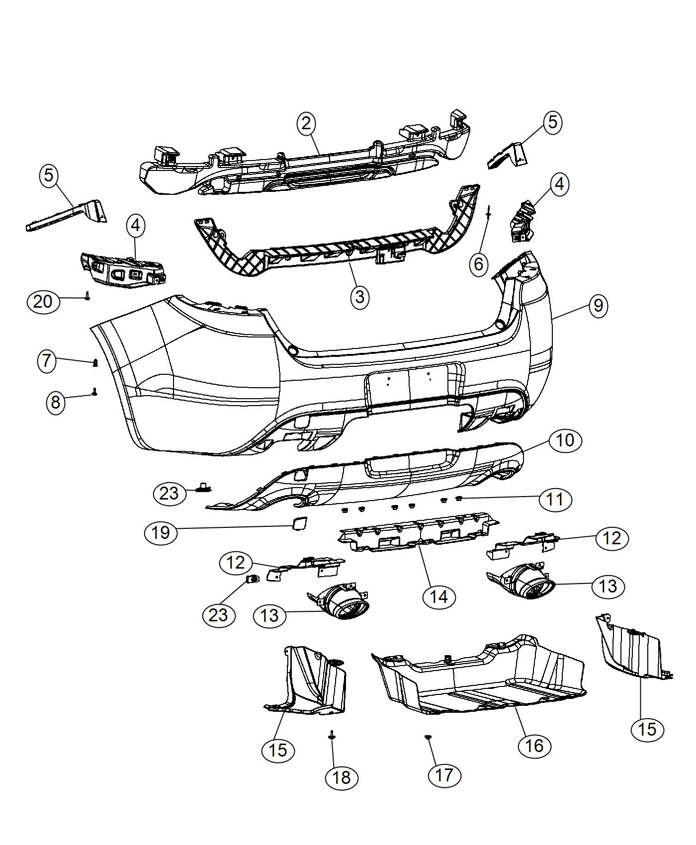 Dodge Dart Bumper Rear Reinforcement Beam