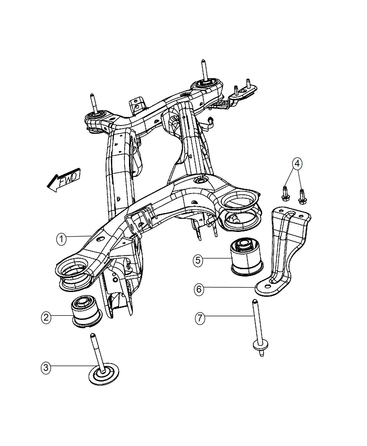 Dodge Journey Isolator Crossmember Rear Suspension