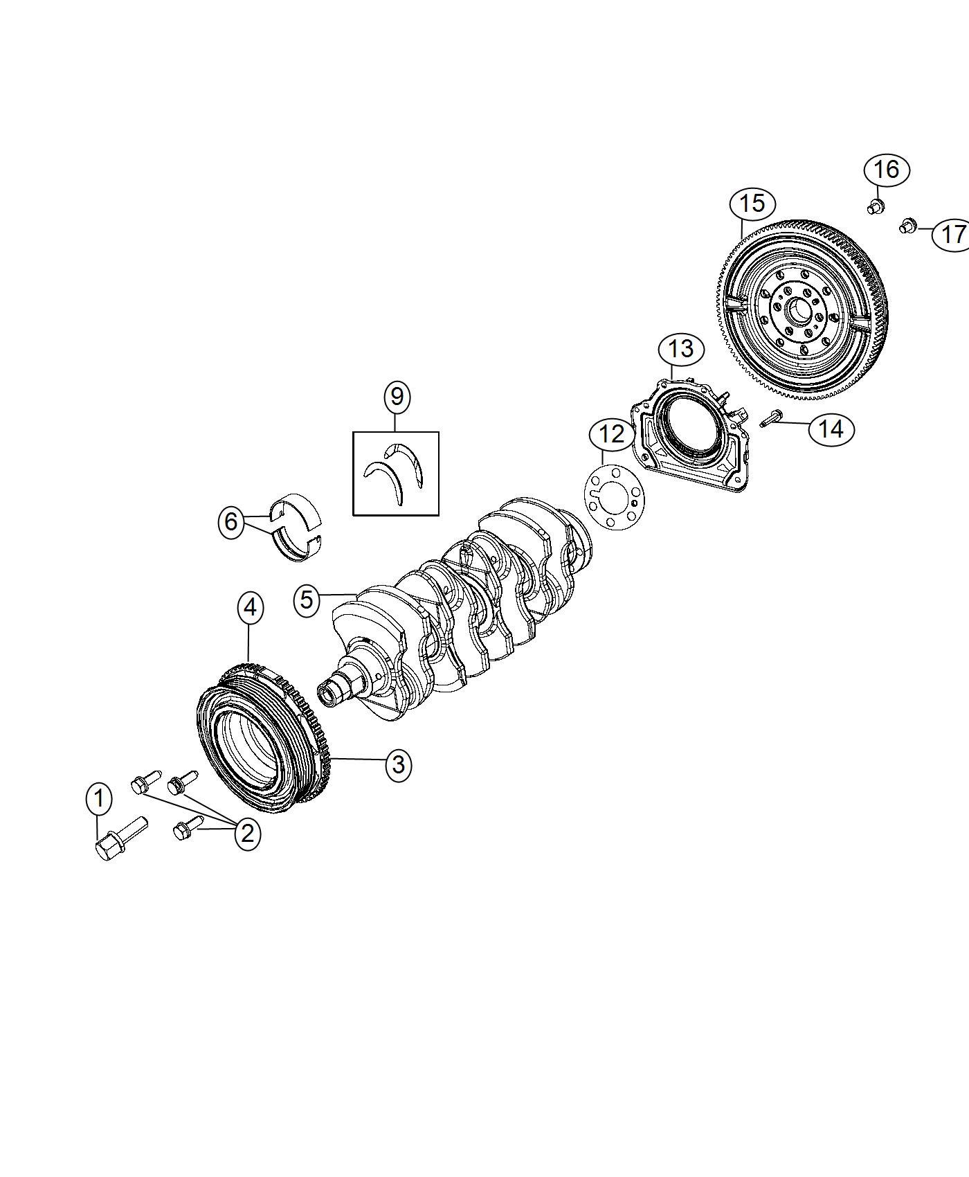 Dodge Dart Damper Crankshaft Flywheel Bearings