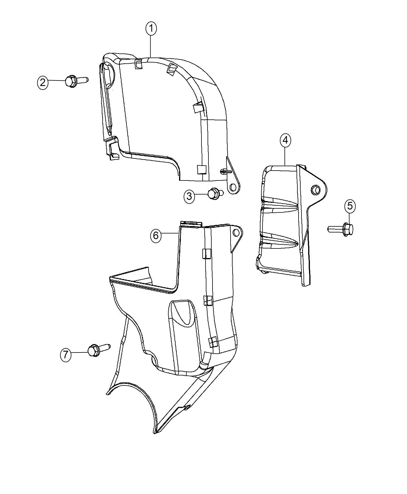 Dodge Dart Cover Timing Belt Upper Turbocharged