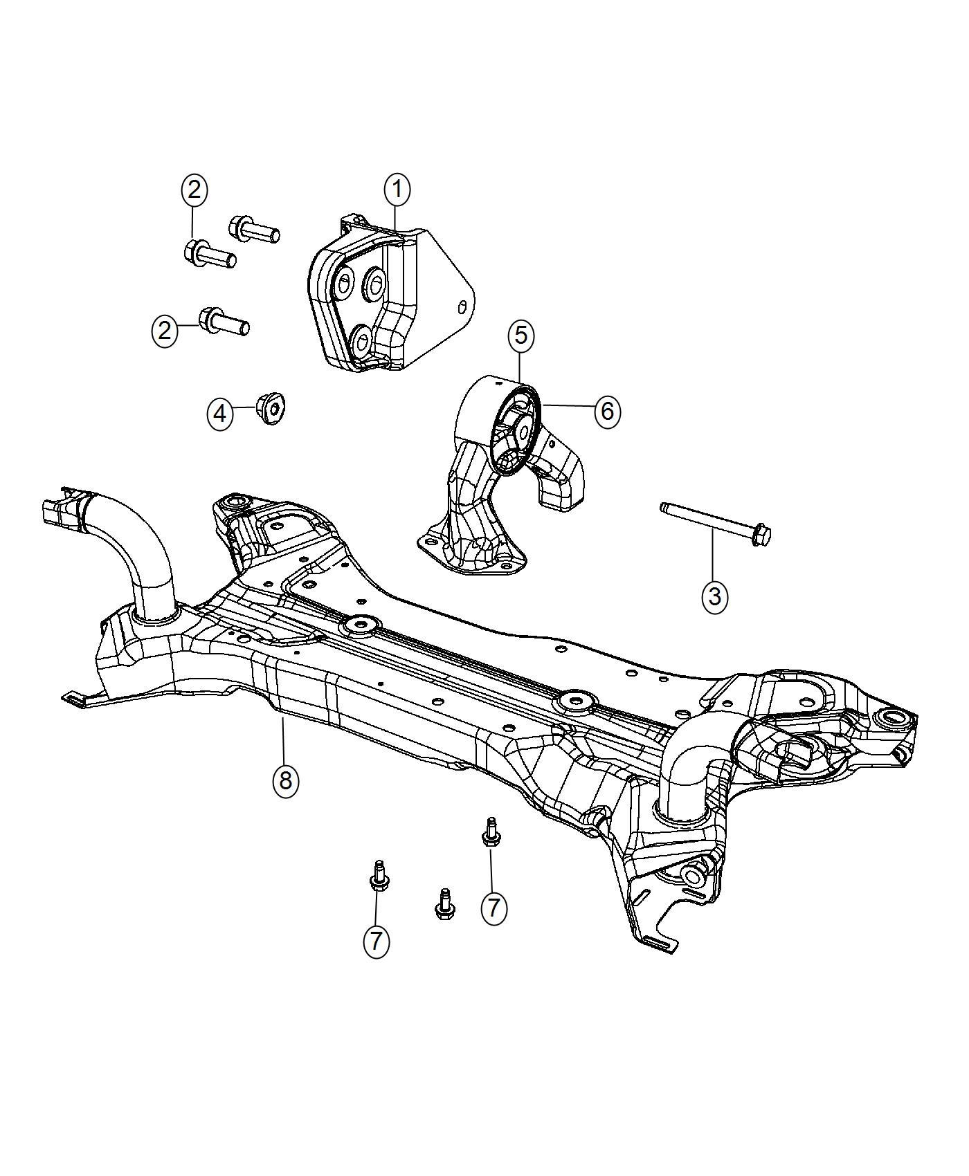 Jeep Patriot Insulator Rear Front Engine Module