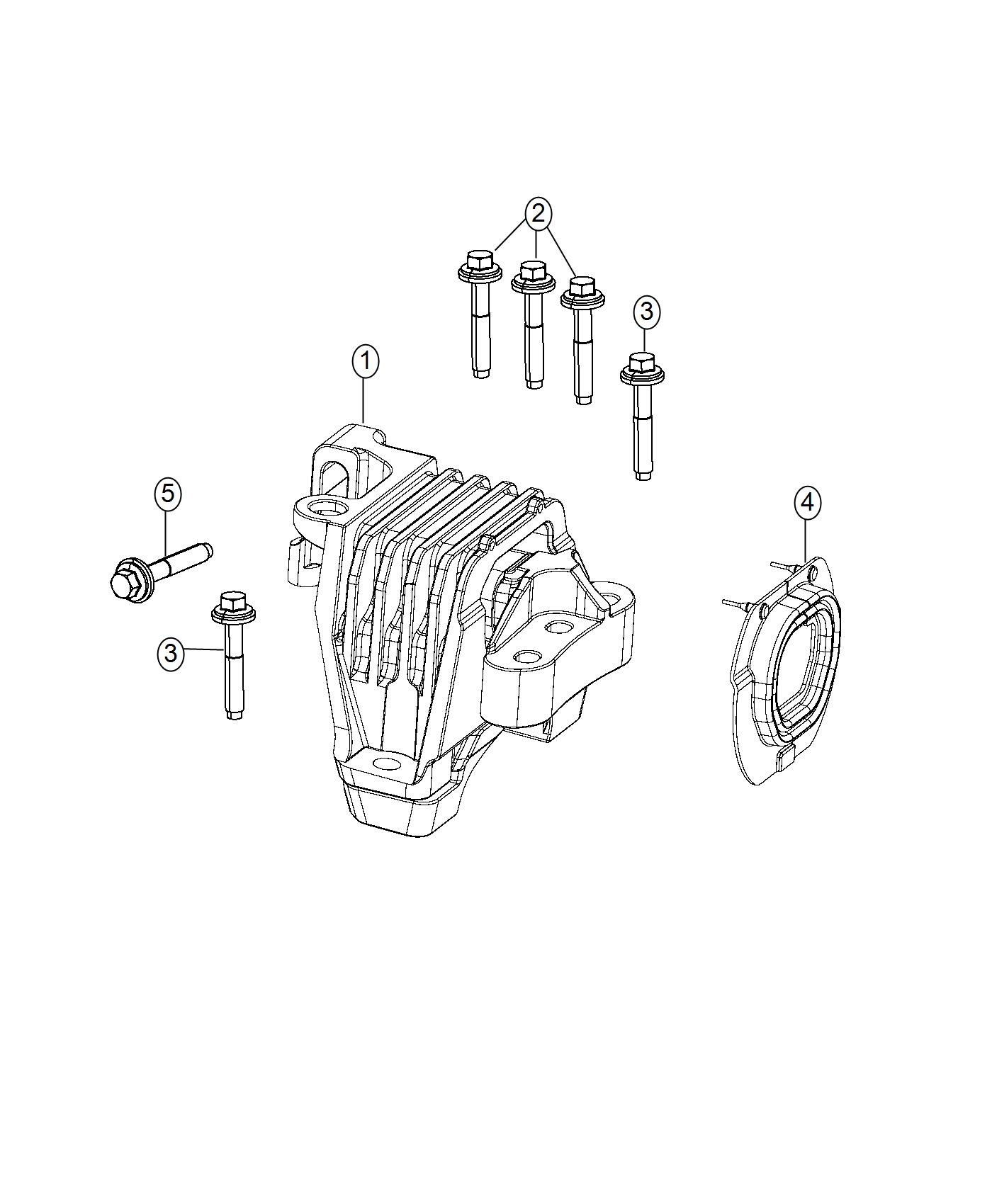 Chrysler 200 Isolator Engine Mount Assembly Touring