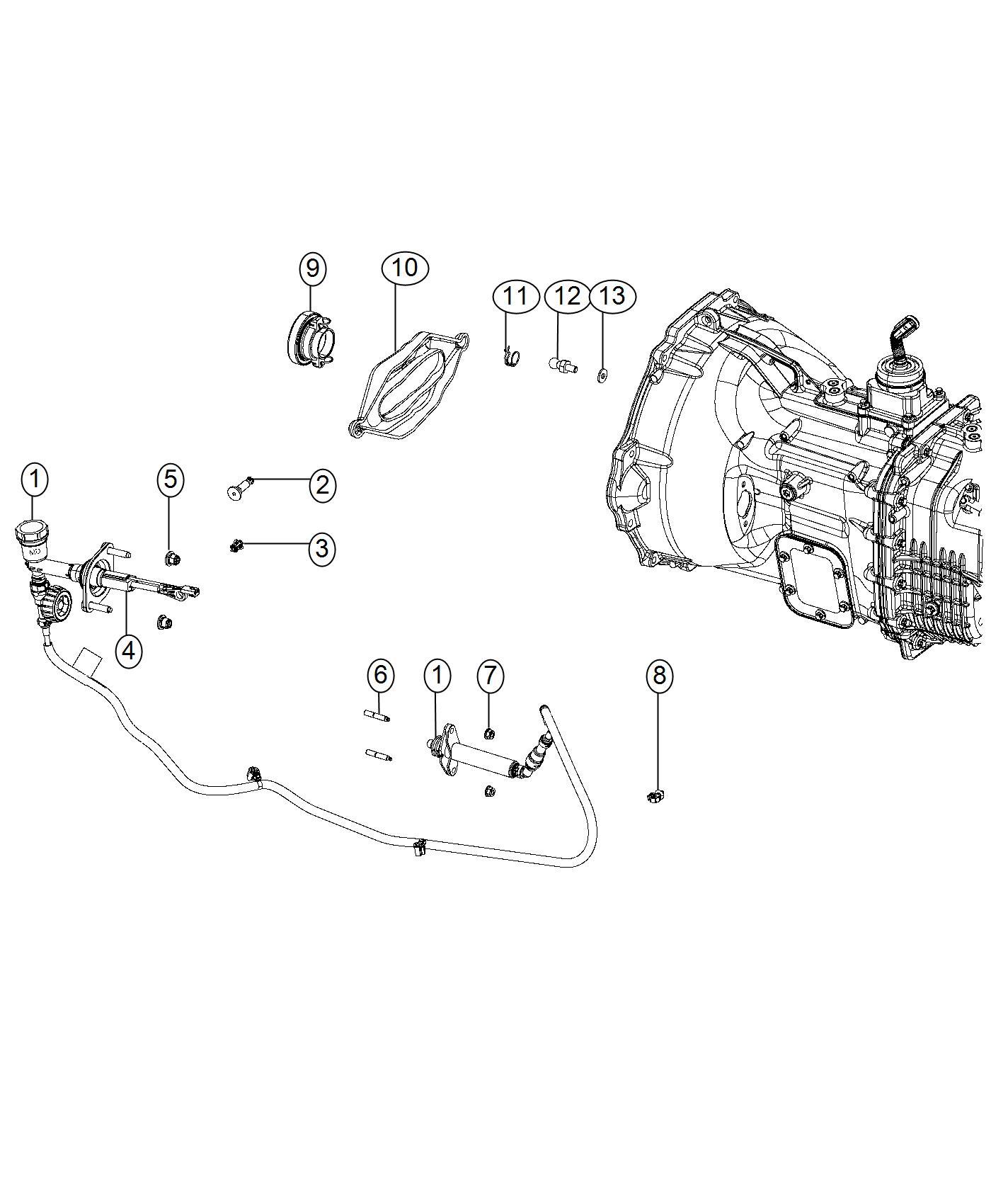 Dodge Ram Hydraulic Assembly Clutch Master
