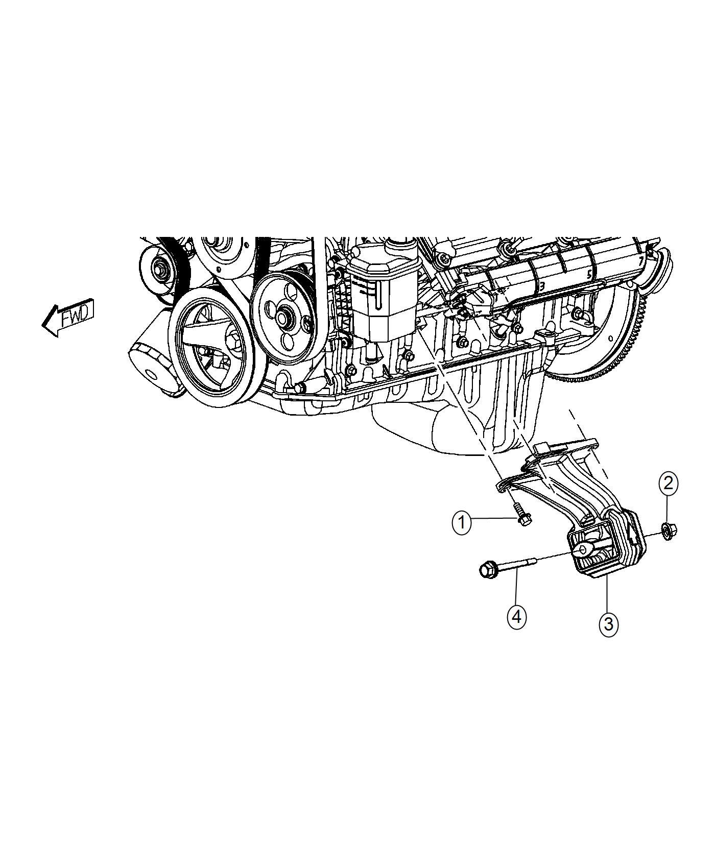 Ram Insulator Engine Mount Left Side Mounting Rwd