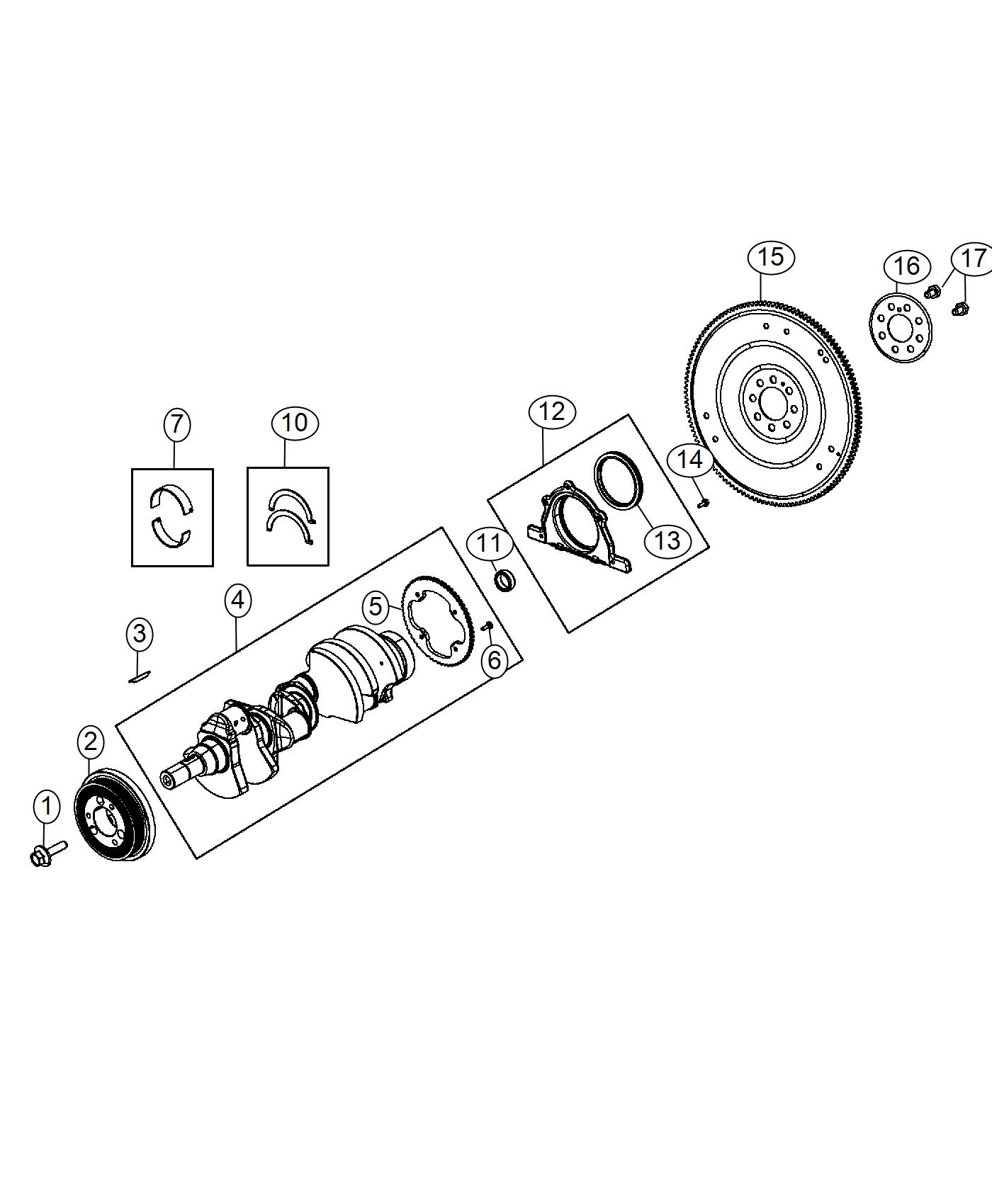 Ram Plate Torque Converter Drive Crankshaft