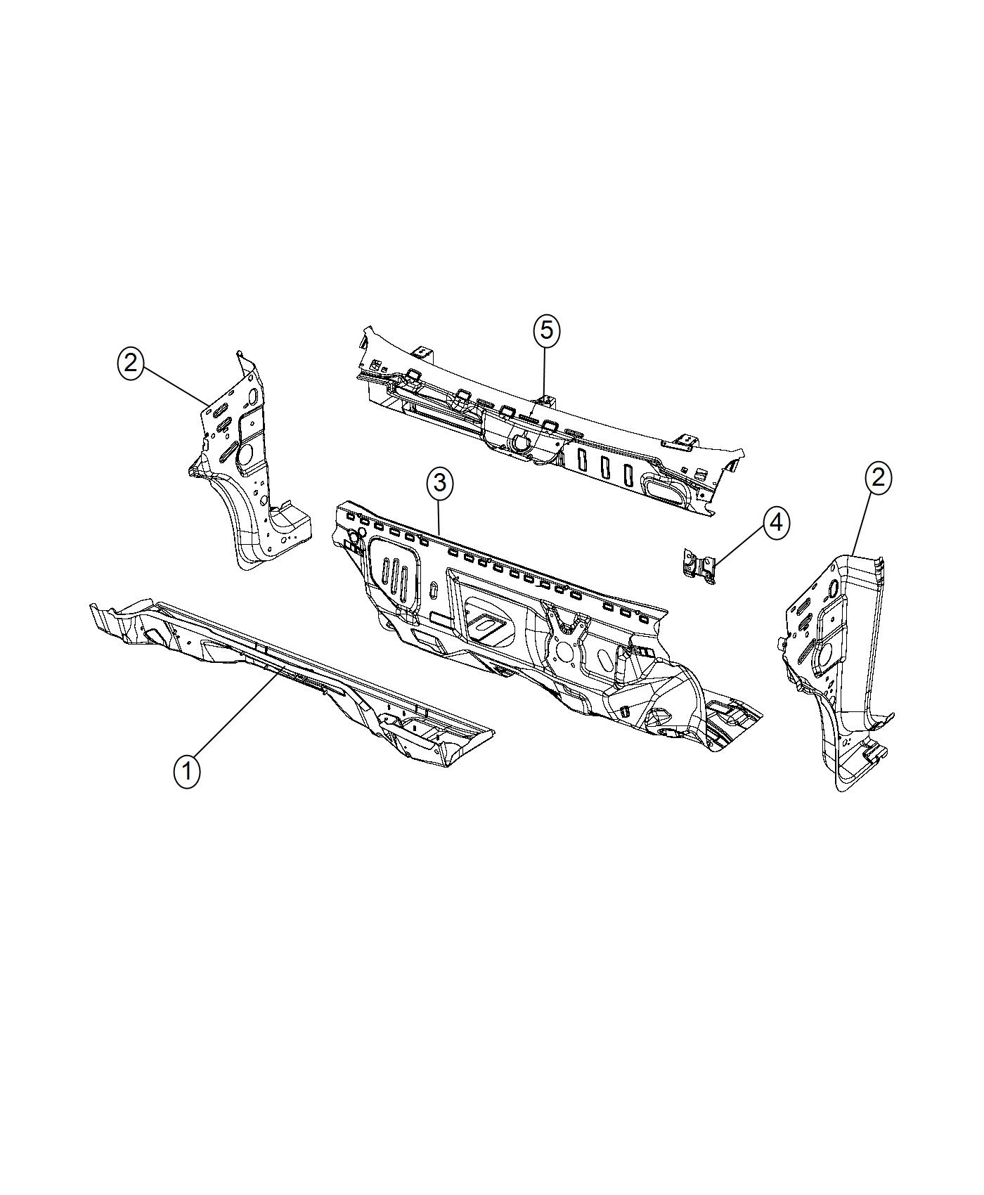 Ram Promaster City Wagon Panel Dash Upper