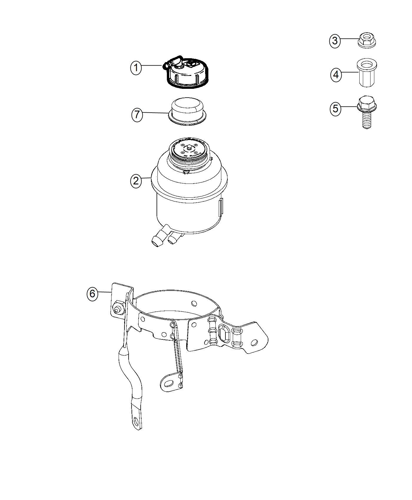 Ram Promaster City Wagon Slt Bracket Power Steering
