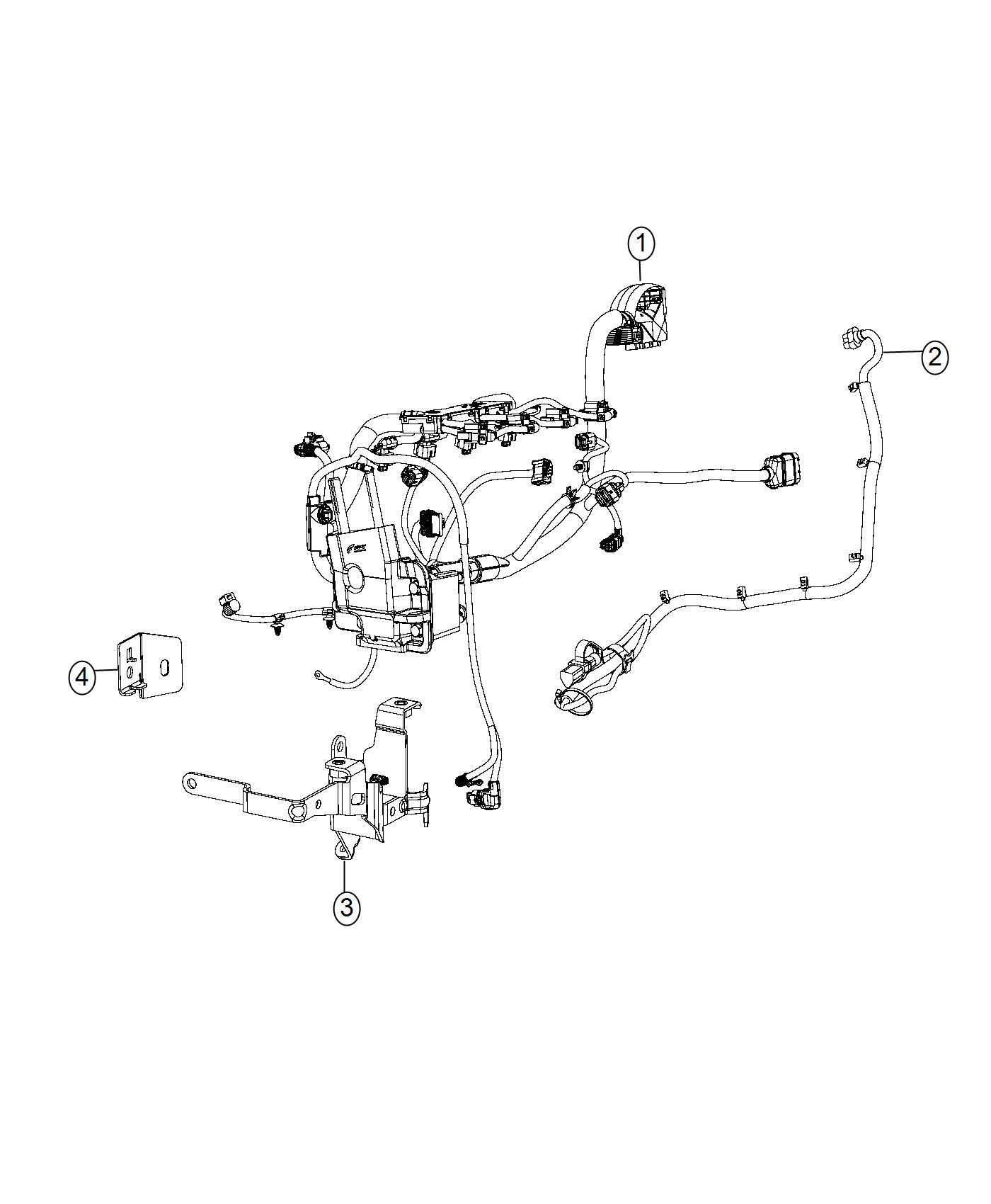 Fiat 500e Bracket Engine Wiring
