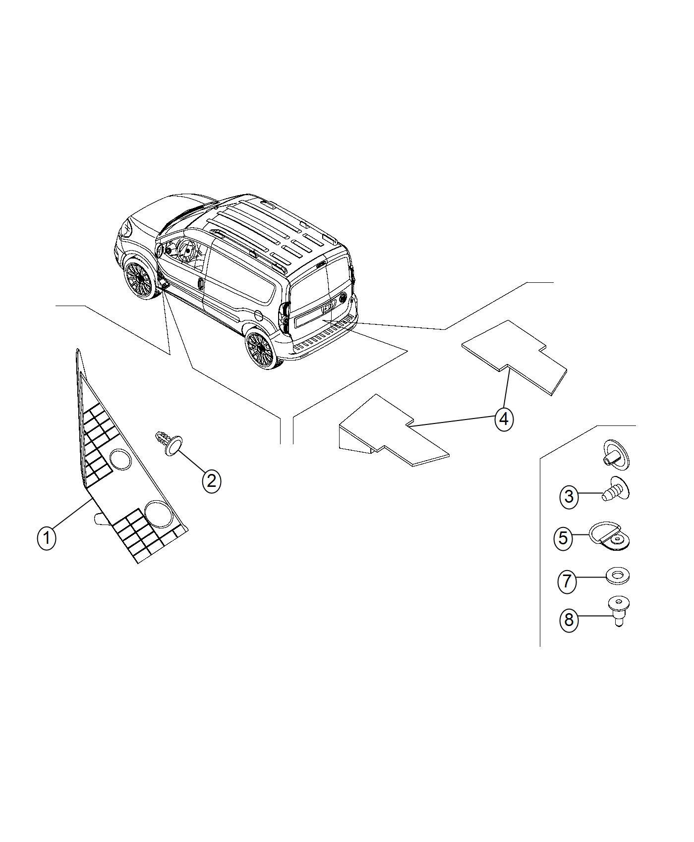 Ram Promaster City Wagon Slt Spacer Mounting