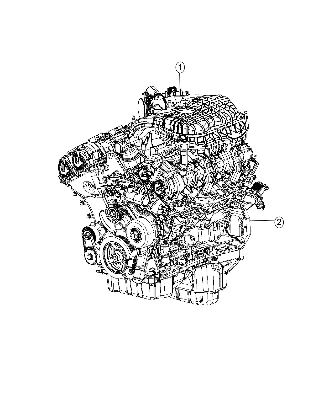Jeep Wrangler Engine Long Block