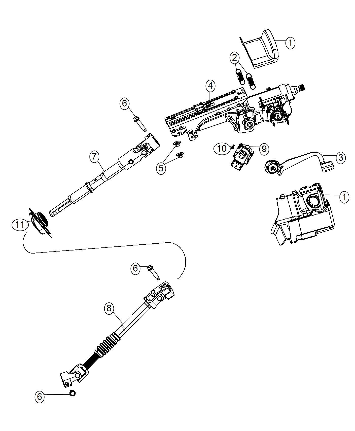 Jeep Wrangler Shaft Intermediate Steering Column