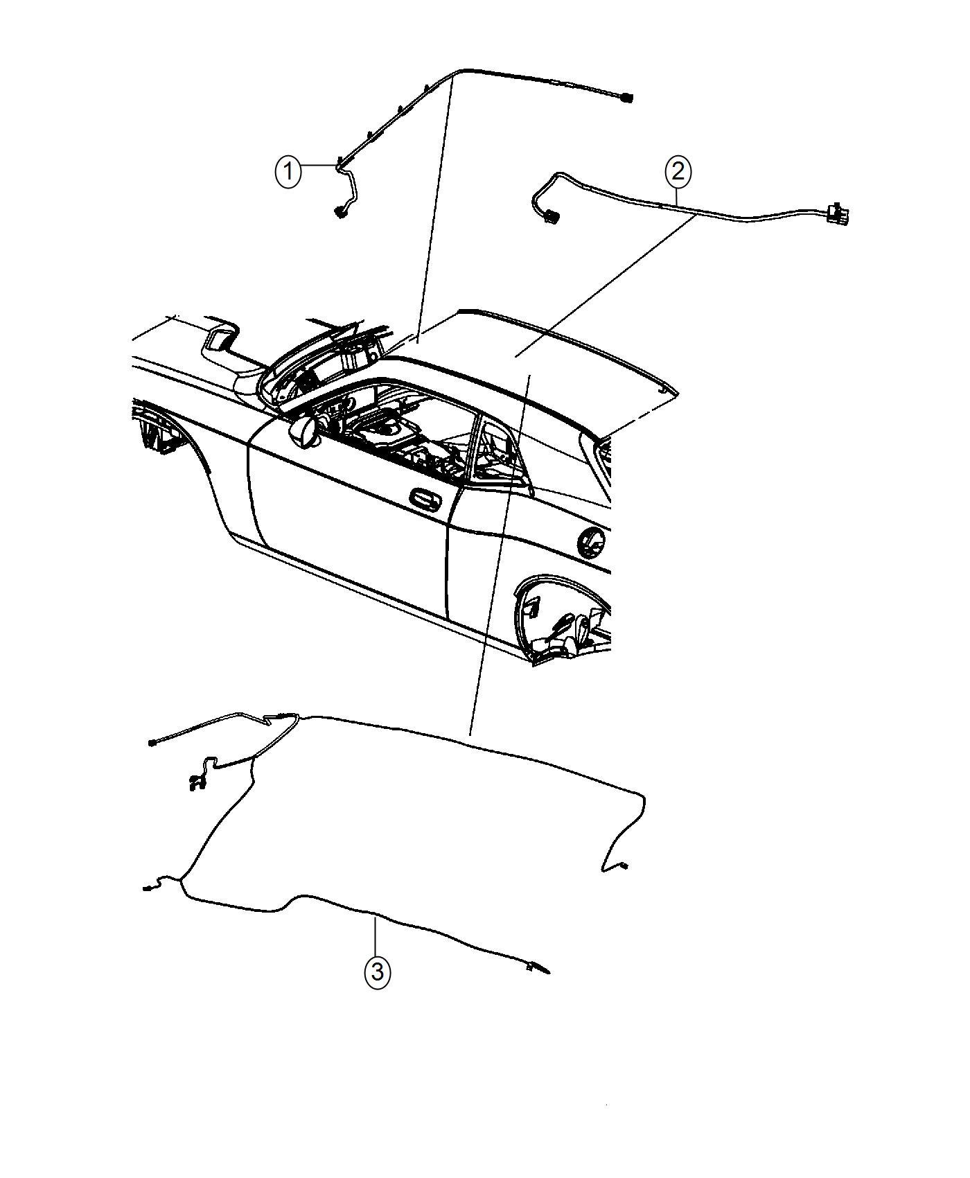 Dodge Challenger Wiring Jumper Mirror Base Headliner