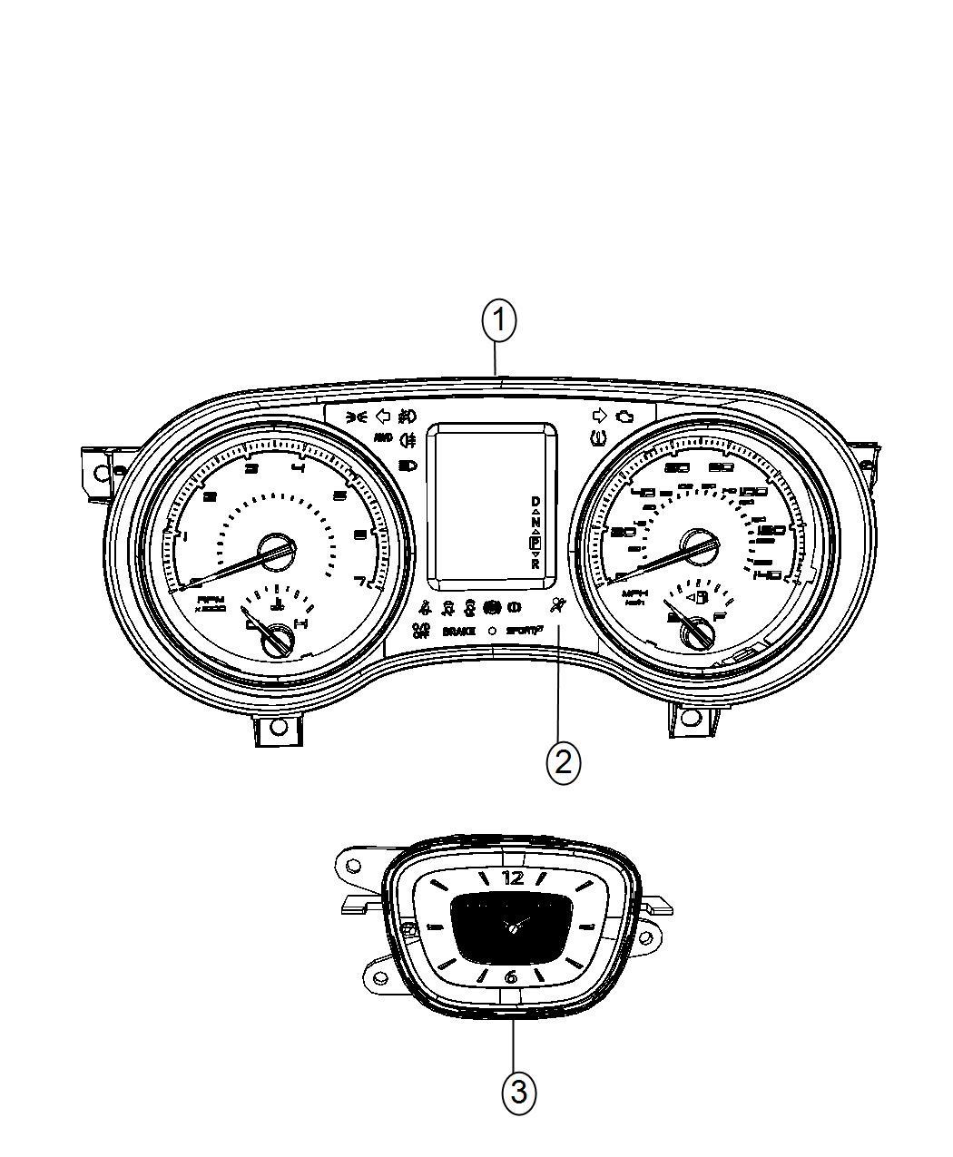 Chrysler 300 Cluster Instrument Panel Instrument