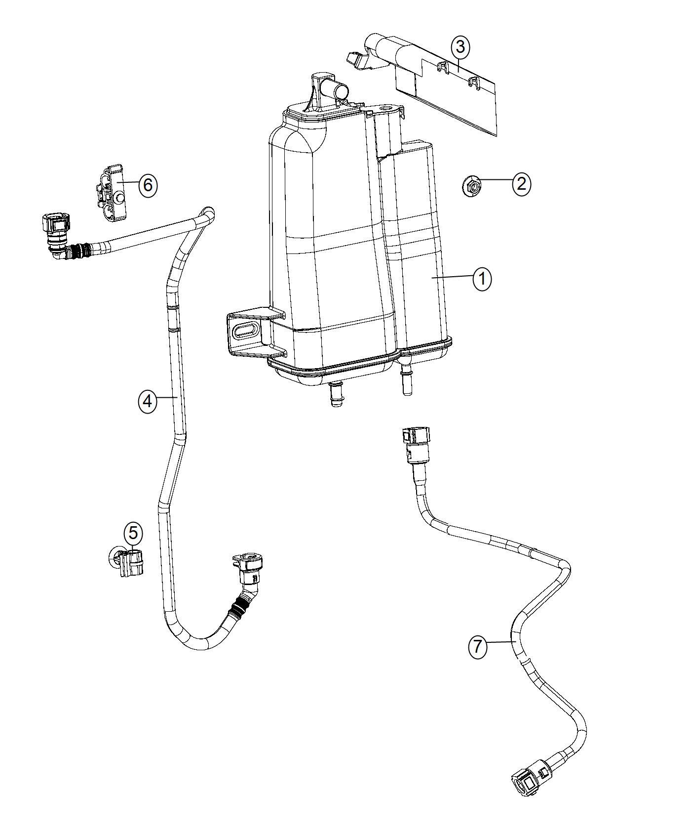 Jeep Renegade Clip Fuel Line Canada Mexico Lines