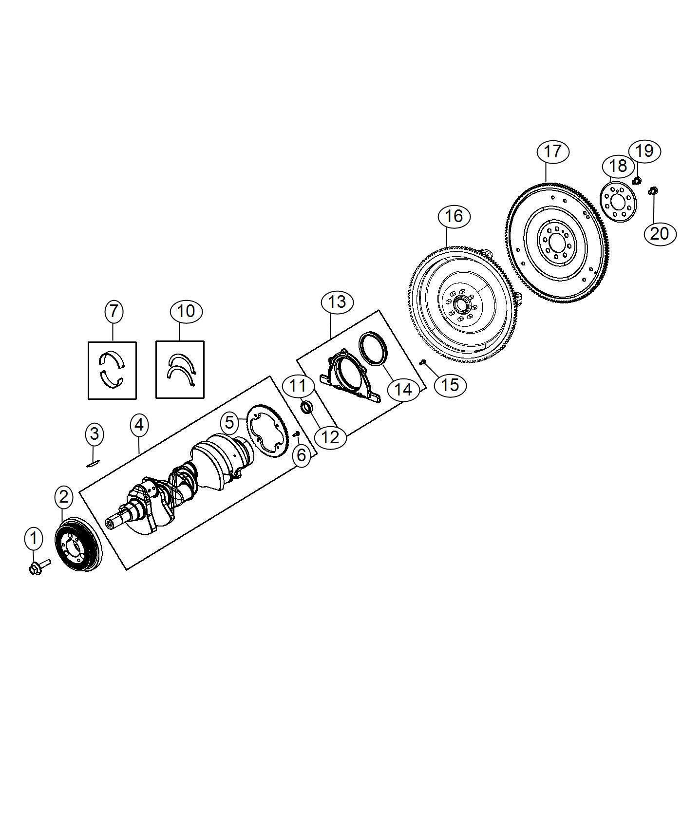 Dodge Challenger Bearing Kit Crankshaft B Grade