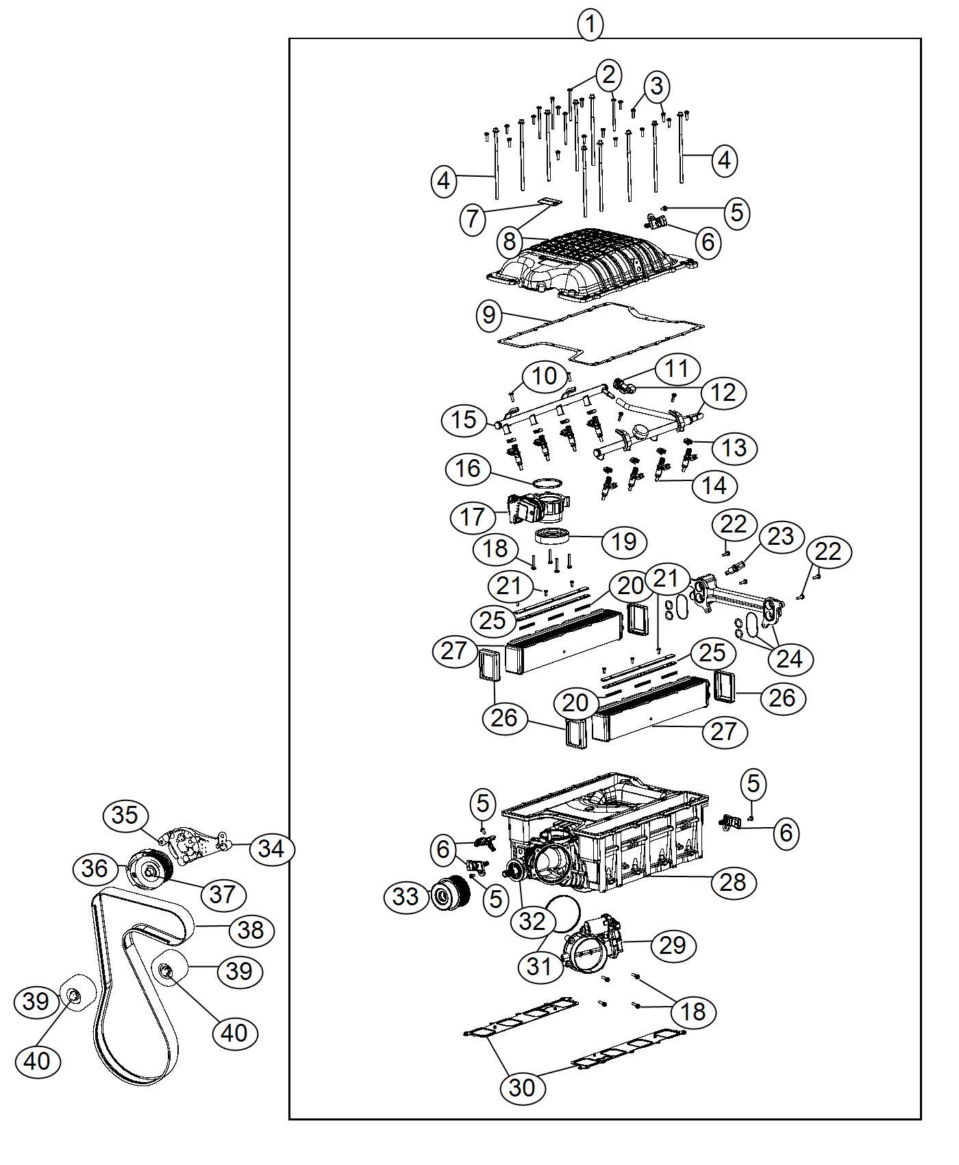 Dodge Charger Lid Kit Supercharger