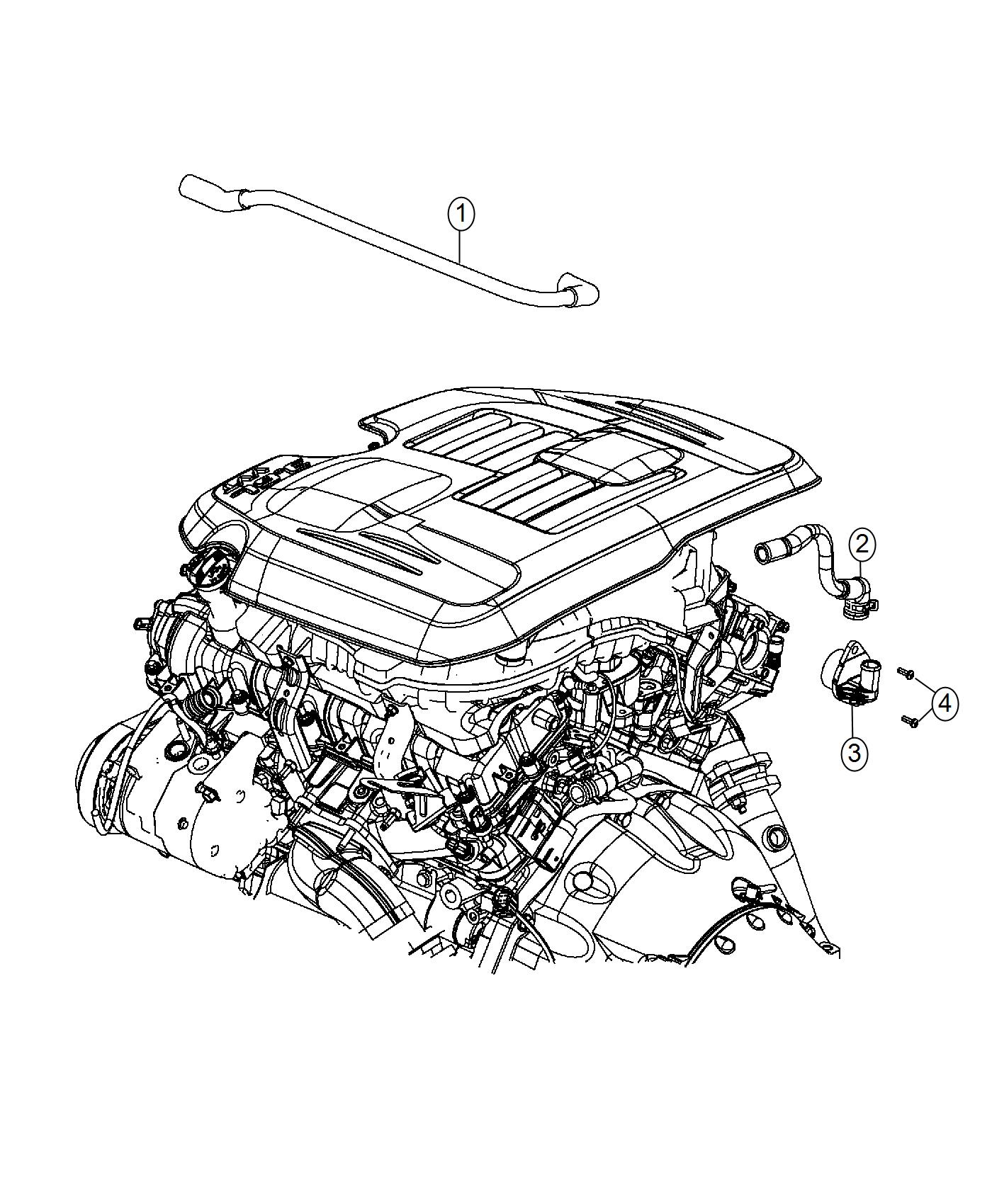 Chrysler 300 Valve Pcv Ventilation Crankcase Engine