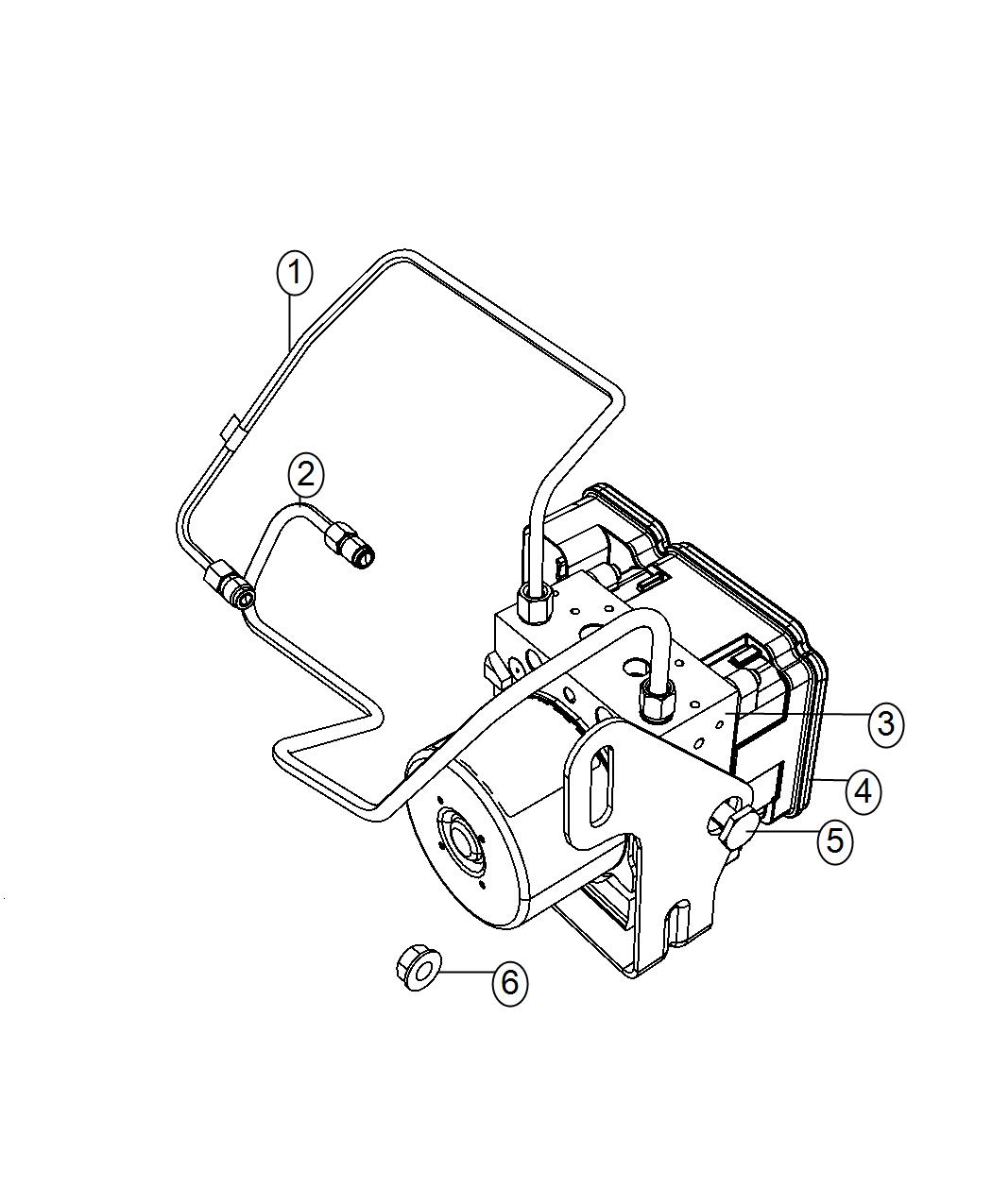 Dodge Durango Module Anti Lock Brake System Speed