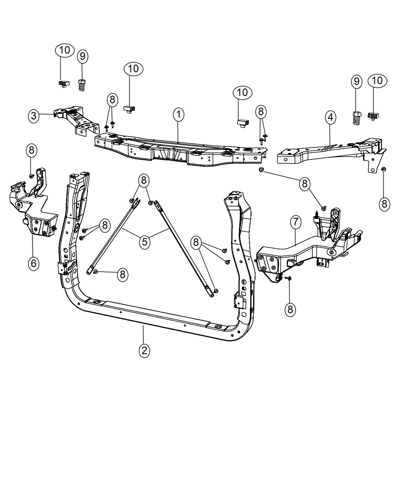 Dodge Durango Bracket Headlamp Mounting Left Front End