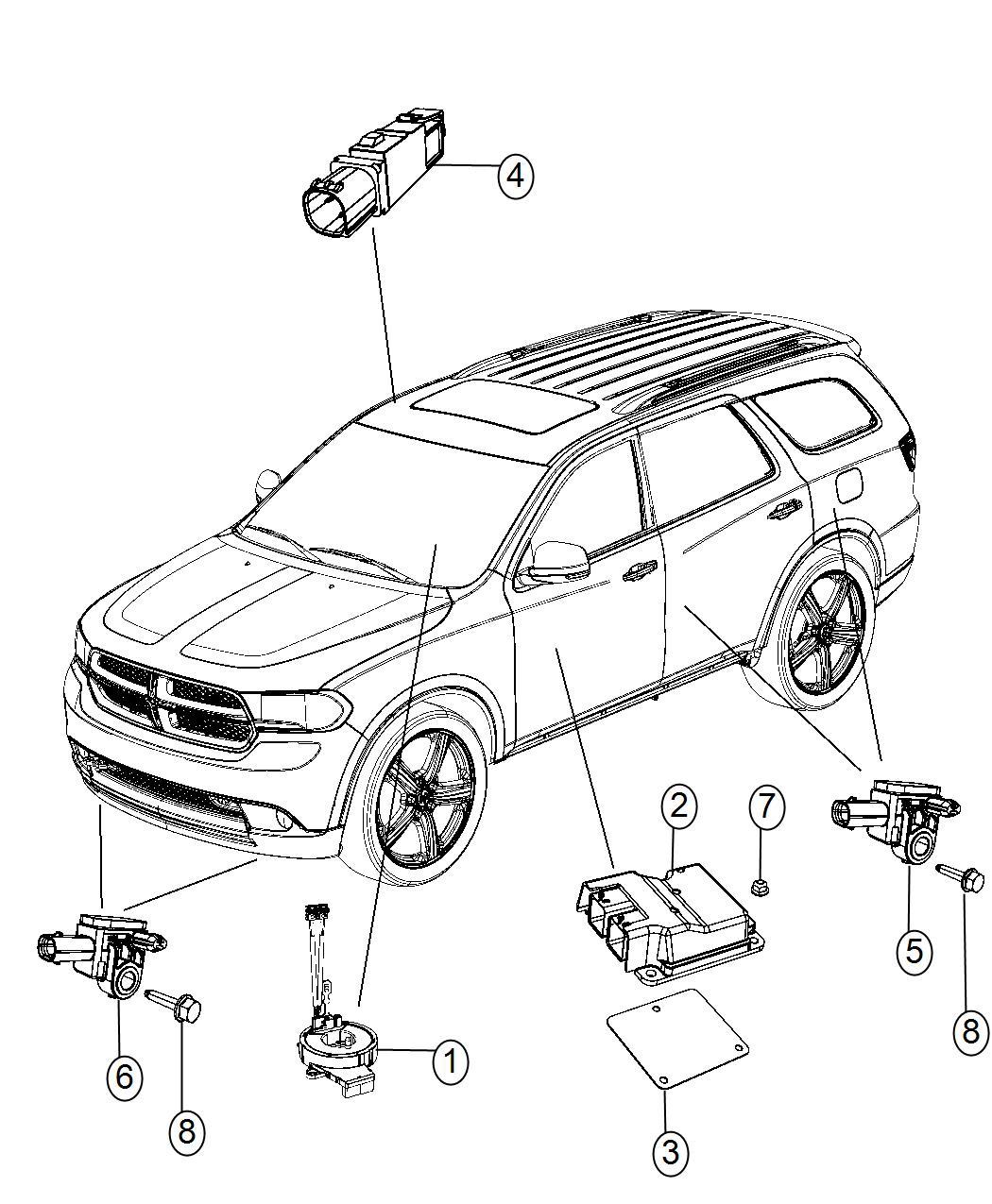 Dodge Durango Module Occupant Restraint Advanced