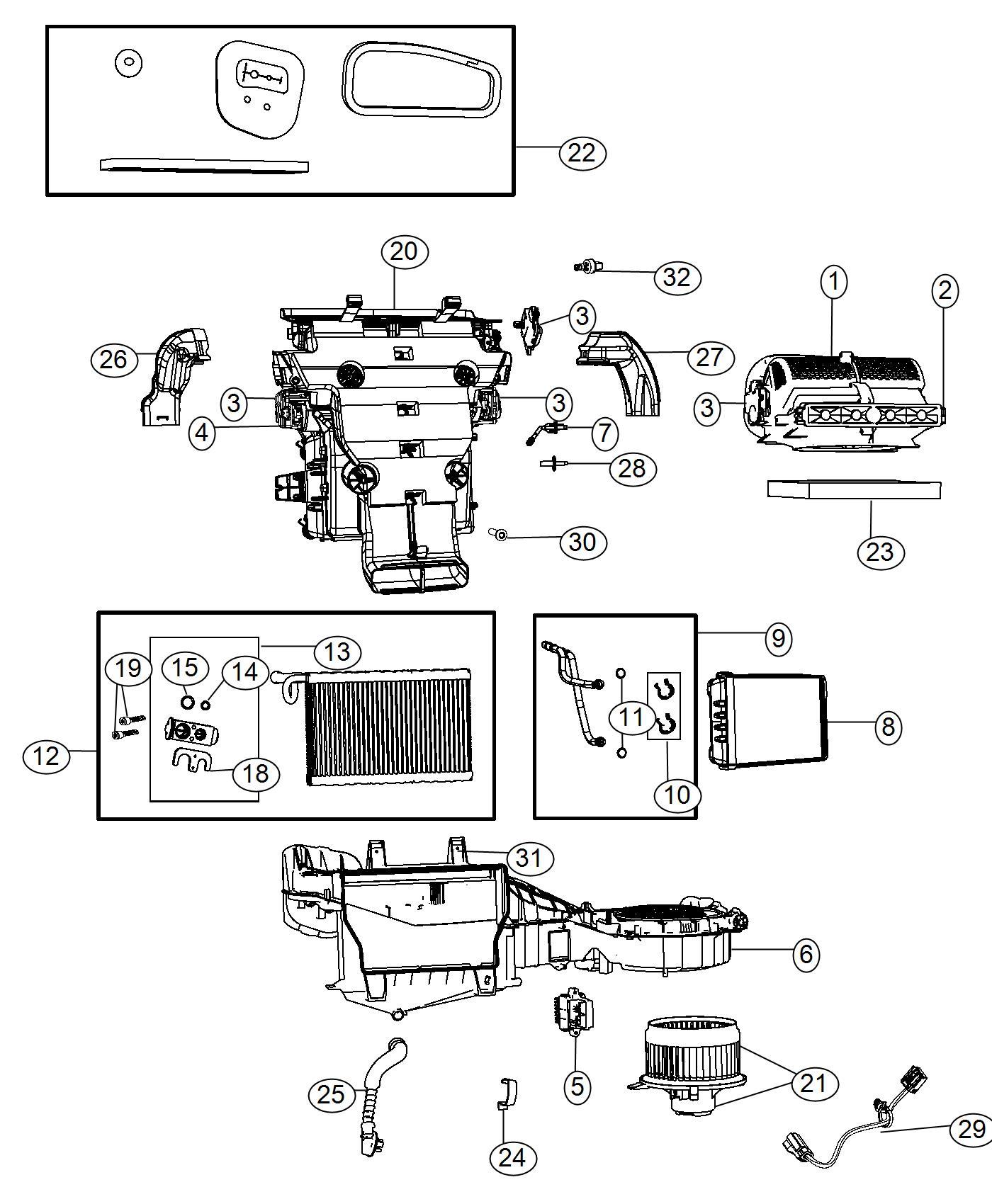 Dodge Durango Actuator A C And Heater Mode Panel Instrument Module Refrigerant