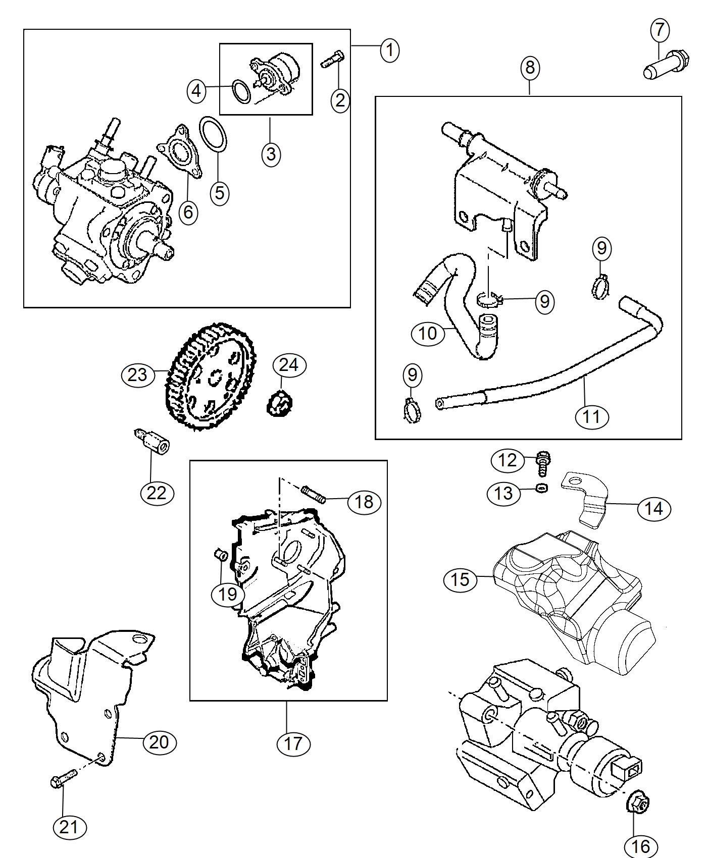 Jeep Cherokee Pump Fuel Injection Export Engine