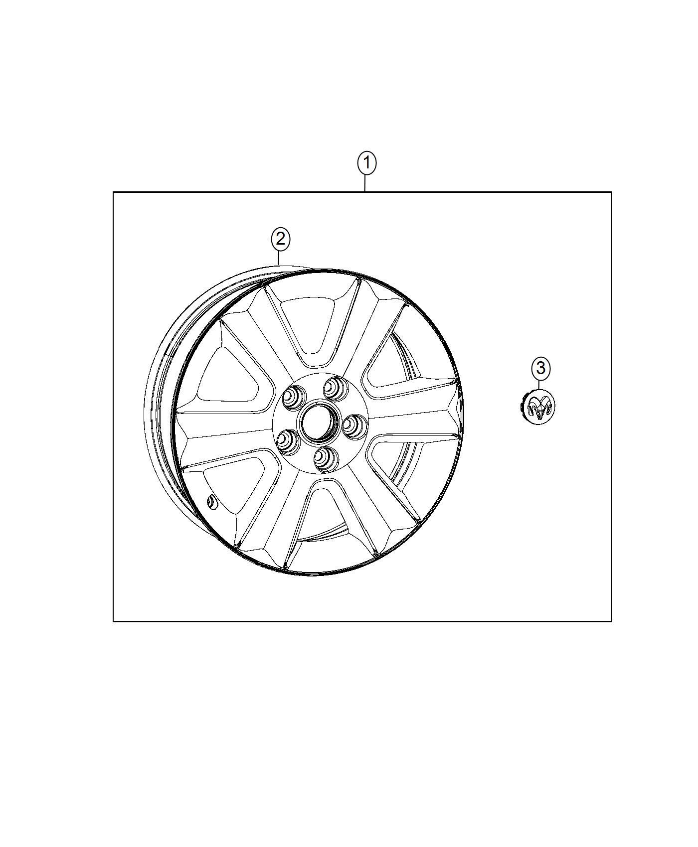 Dodge Journey Wheel Aluminum Front Or Rear Color No Description Available