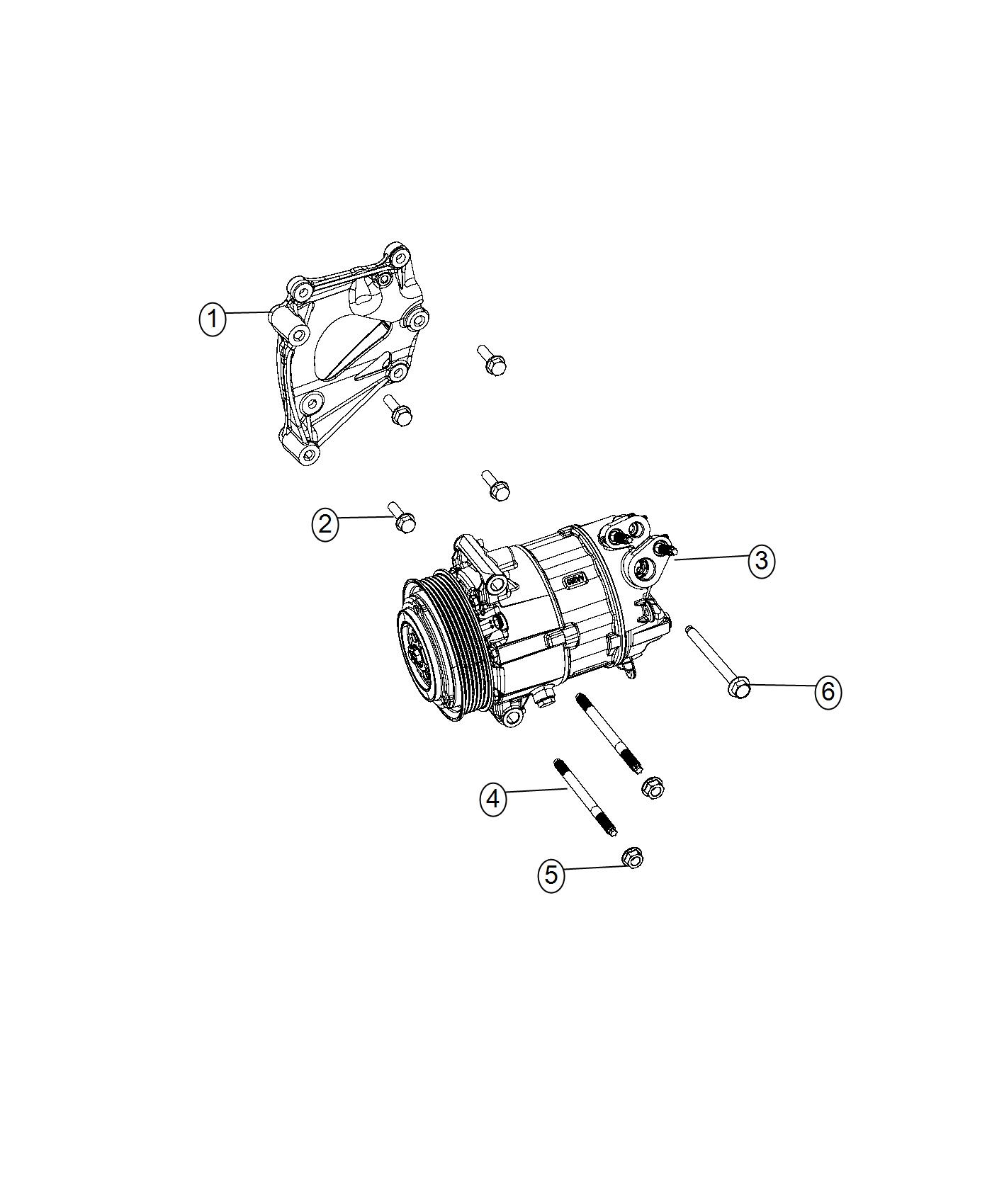 Chrysler Pacifica Bracket A C Compressor Do Not Use Use