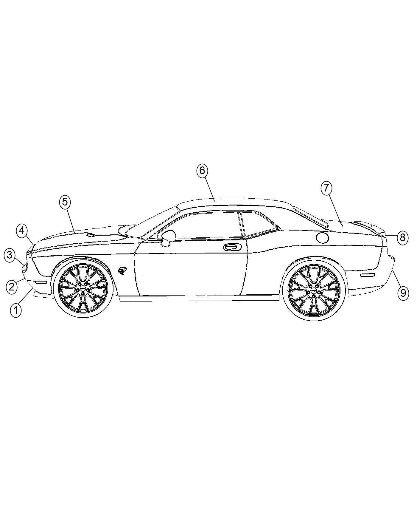 Dodge Challenger Decal Fascia Dual Carbon Stripes