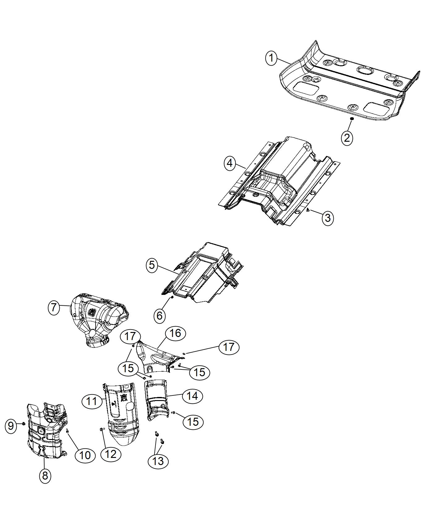 Jeep Cherokee Shield Floor Pan Rear Rear Floor