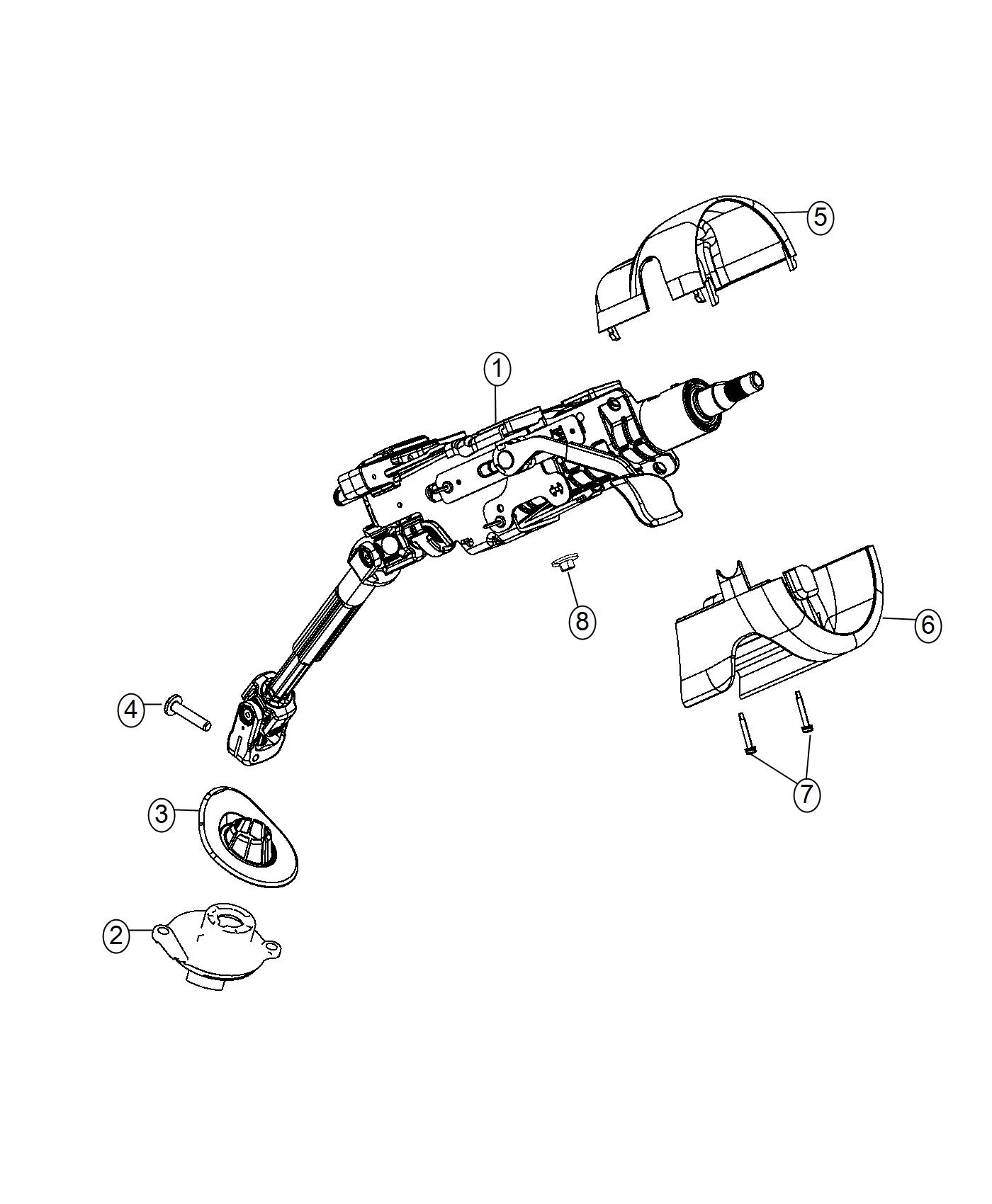 Jeep Cherokee Column Steering Tilt Export