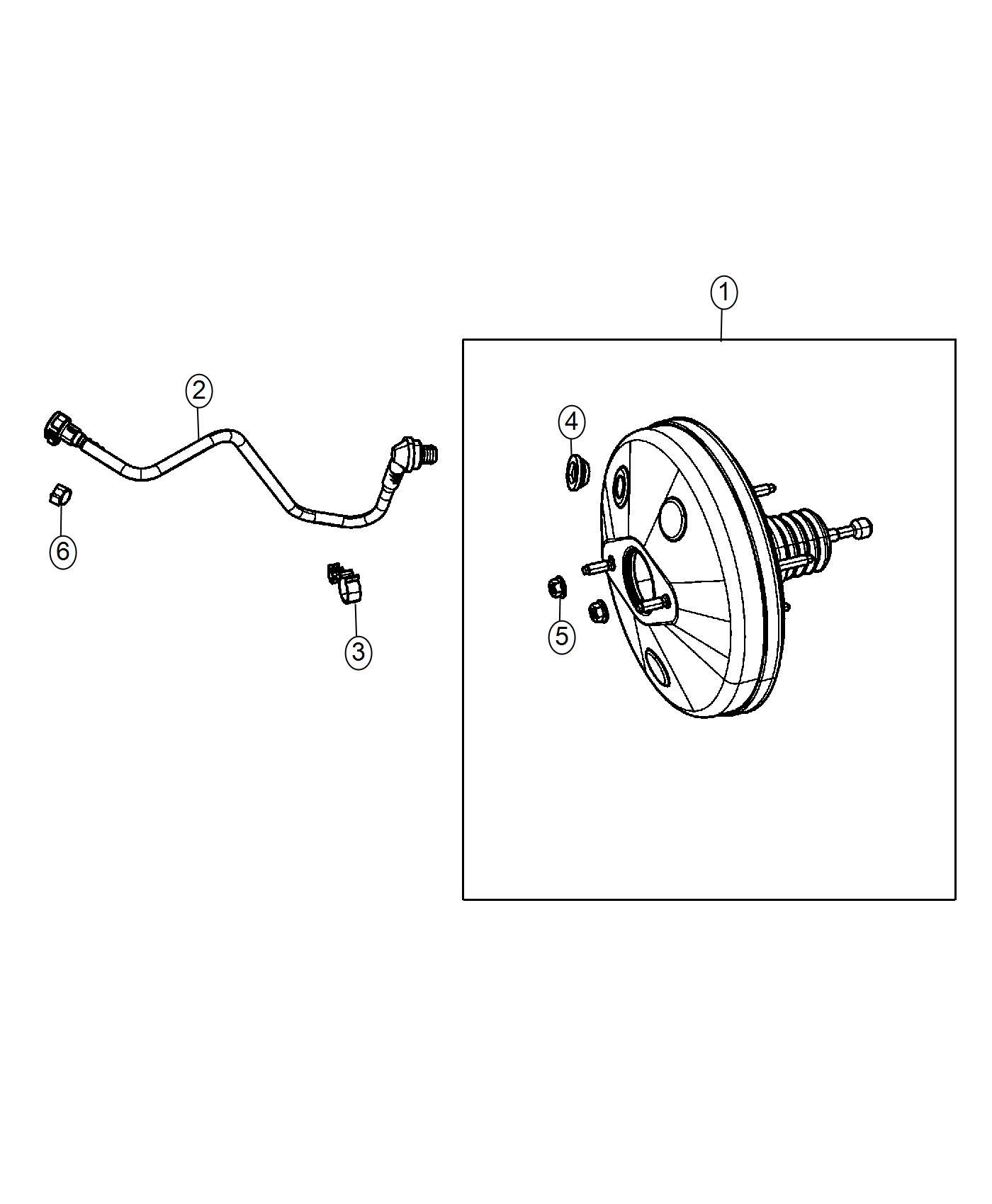 Fiat 500e Booster Power Brake 4 Wheel Disc Brakes