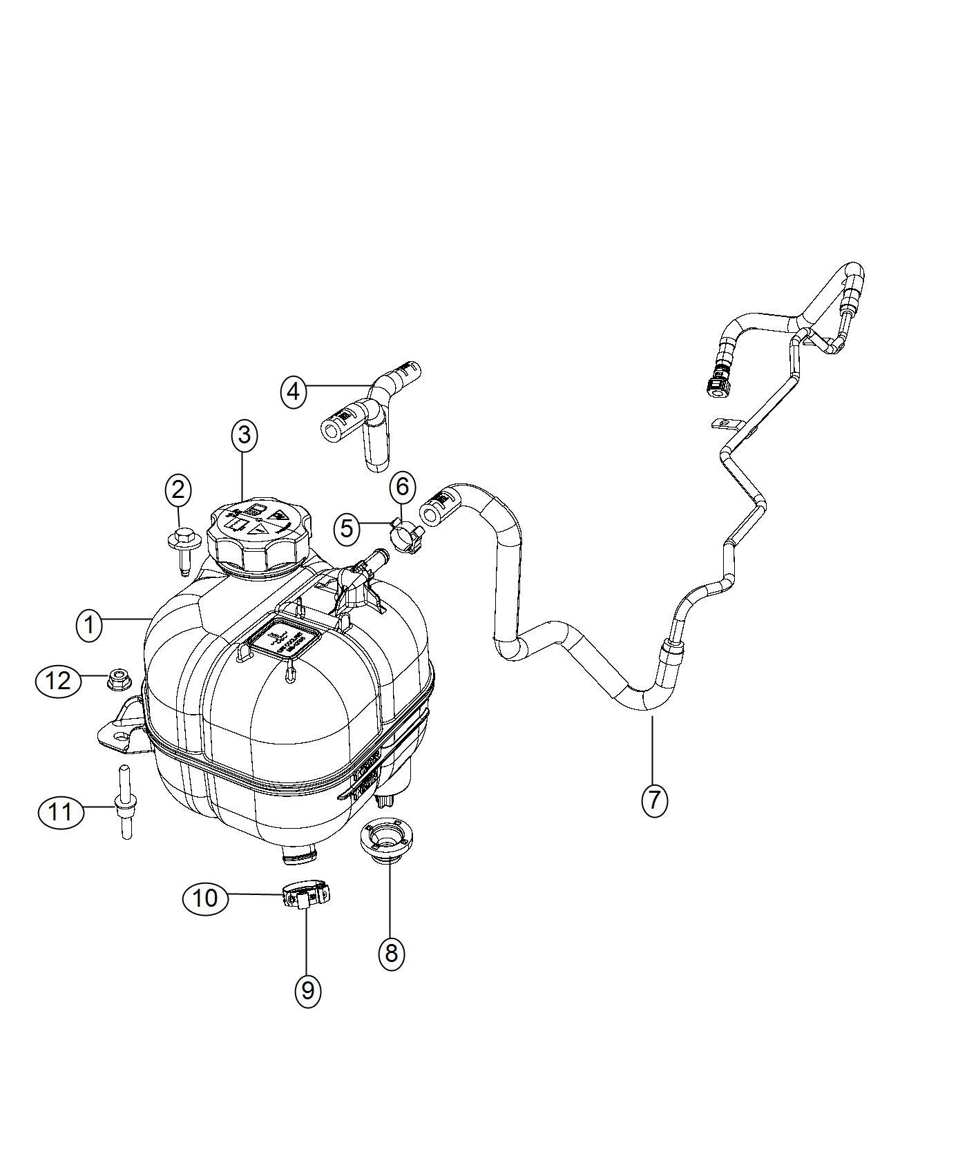Jeep Cherokee Reservoir Coolant Pressurized