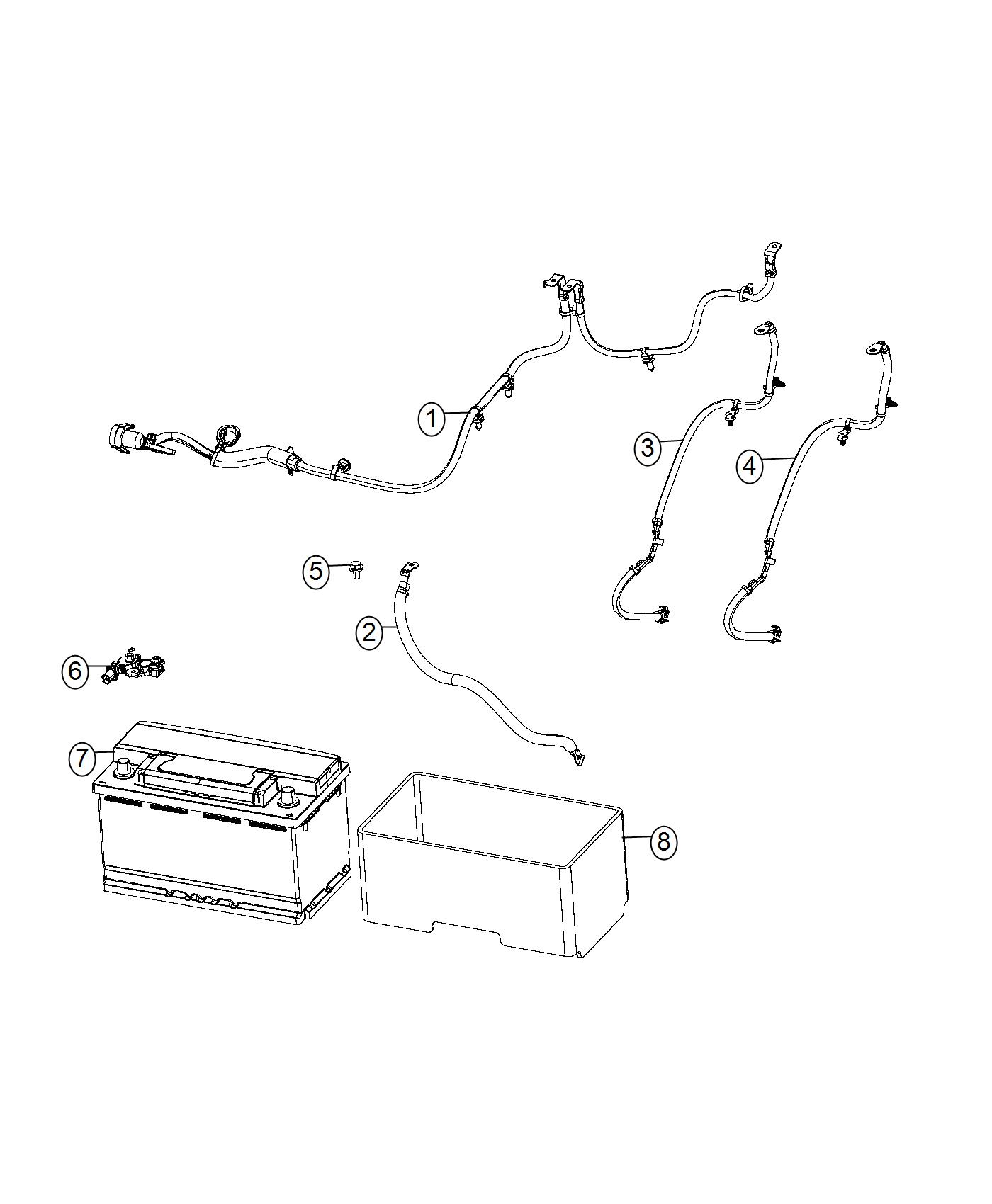 Chrysler Pacifica Sensor Battery Wiring Tray