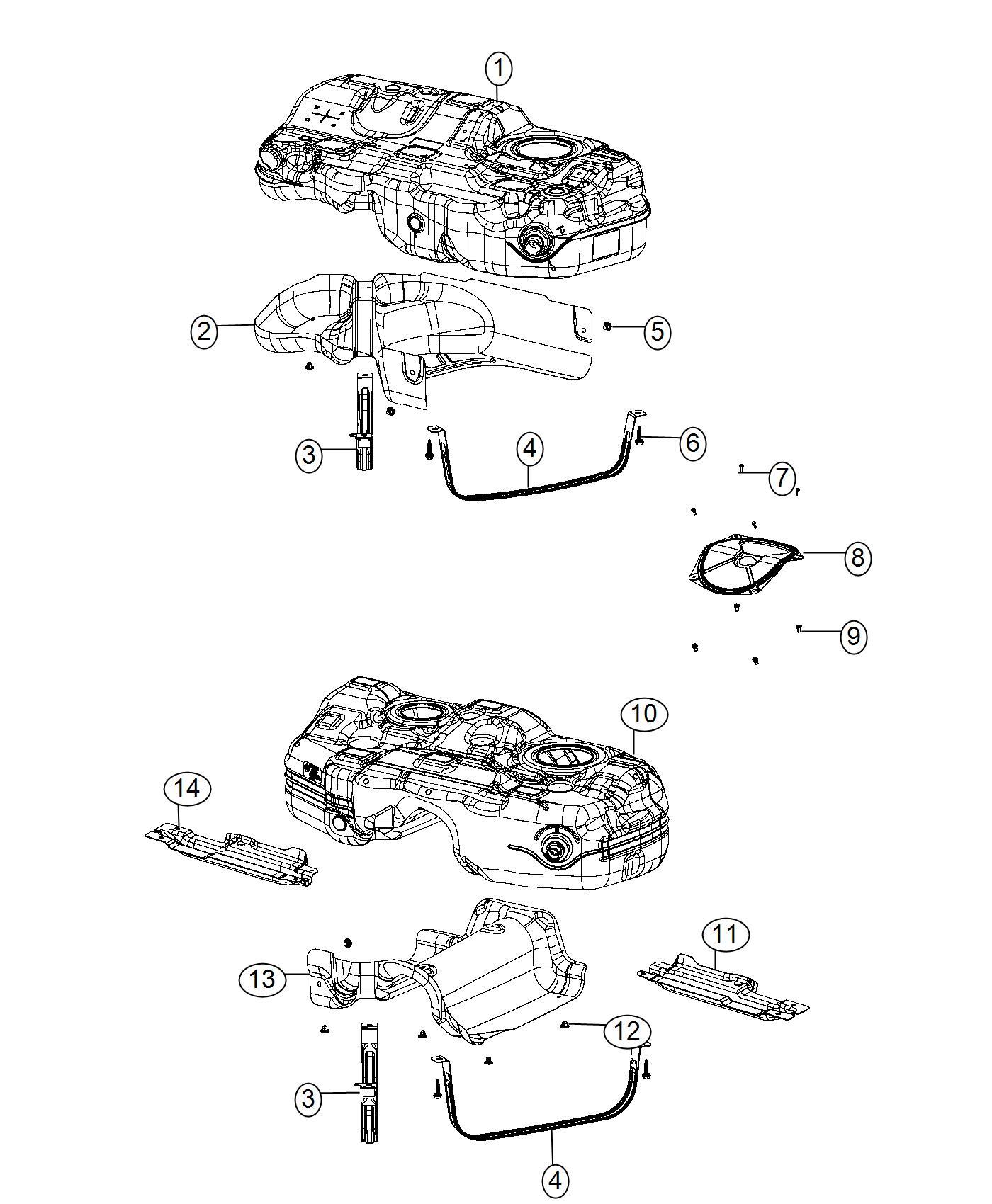 Chrysler 200 Bracket Fuel Tank Left